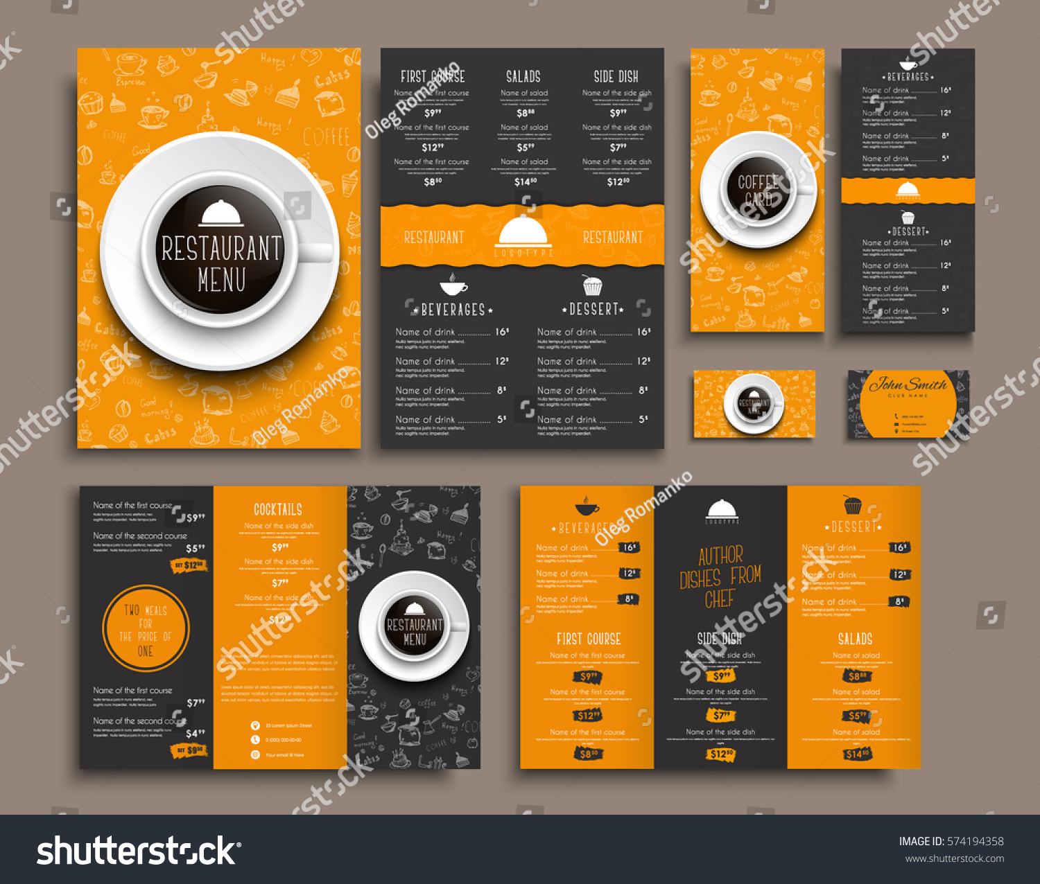 Templates business cards a 4 menu folding em vetor stock 574194358 templates business cards a4 menu folding brochures and flyers narrow for a restaurant or reheart Choice Image