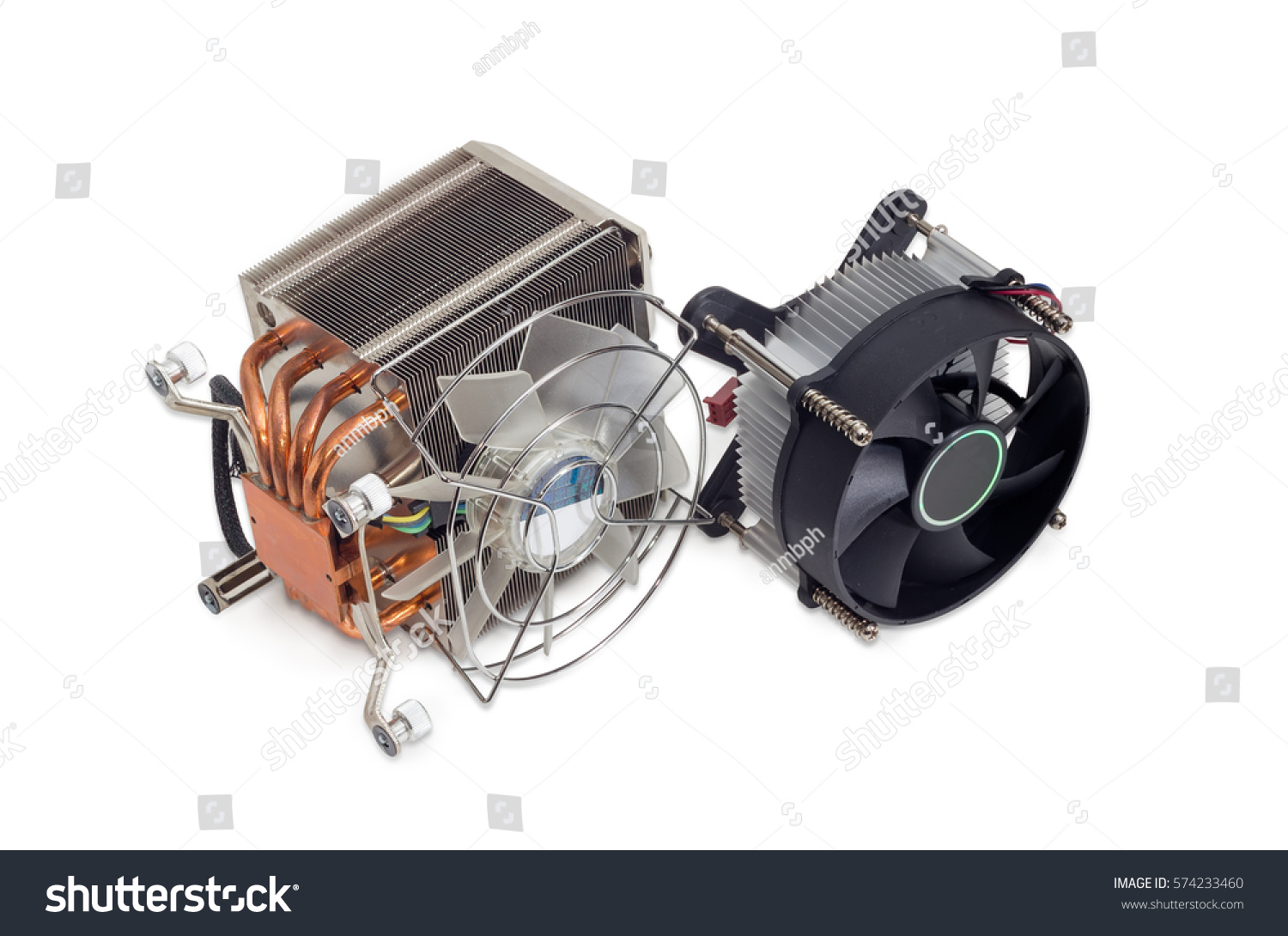 One Active Cpu Cooler With Large Finned Heat Sink Fan Copper Pad Id 574233460