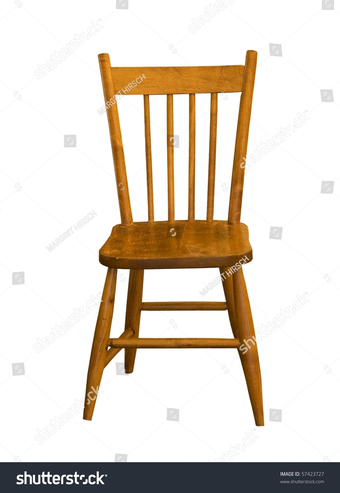 Child Maple Wood Chair On White Stock Photo 57423727