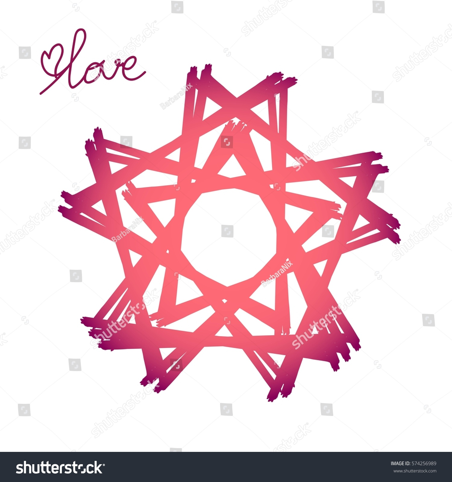 Vector several stars abstract triangles gradient stock vector vector several stars of abstract triangles with a gradient from red to pink with the word buycottarizona Images