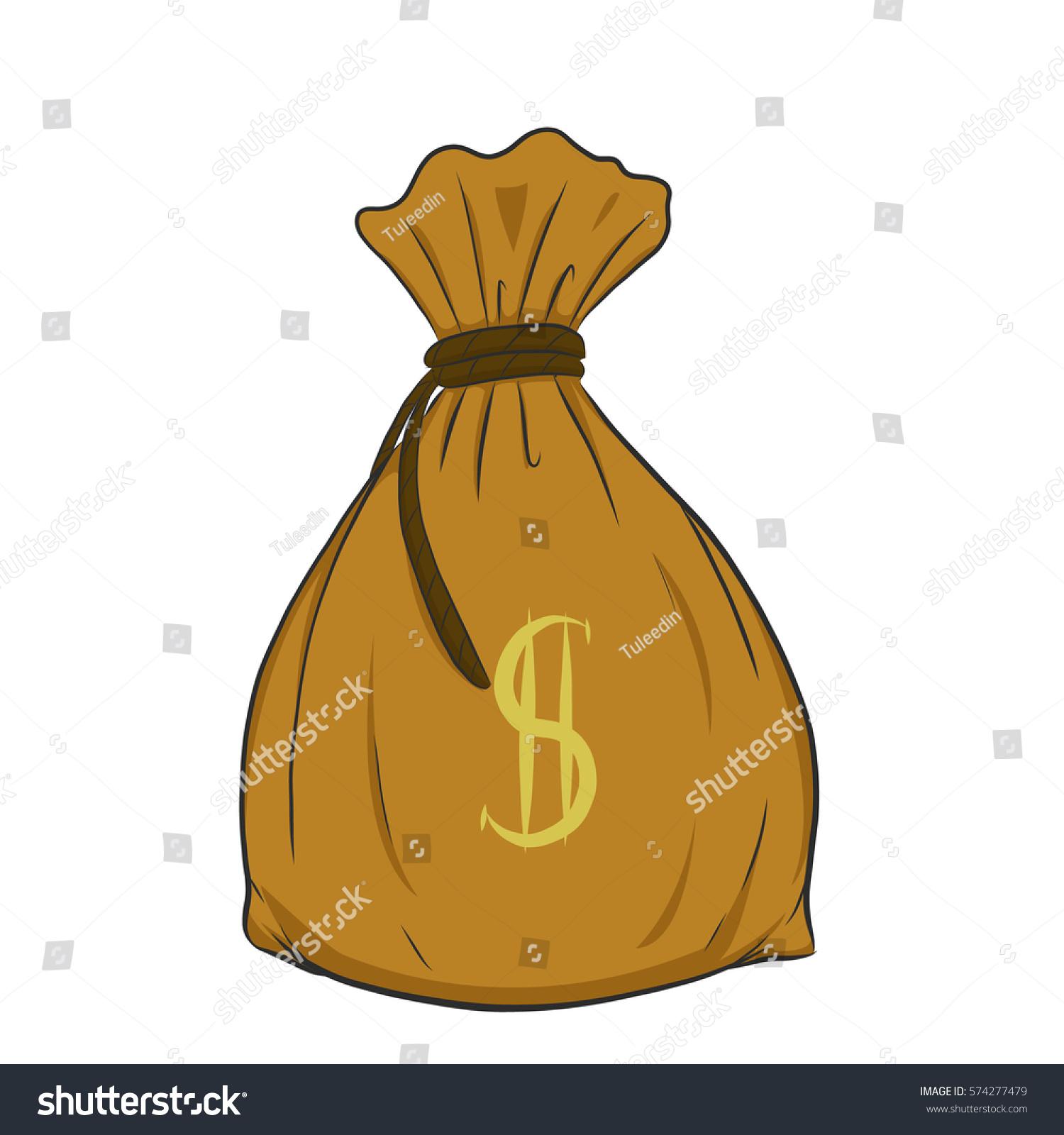 money bag vector on white backgroundmoney stock vector