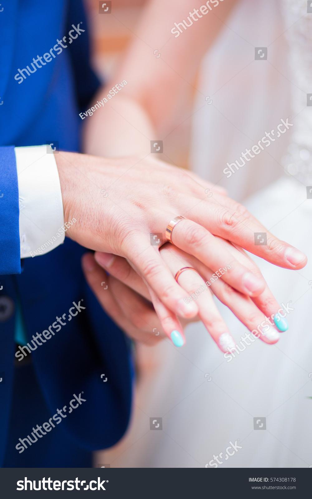 Wedding Rings Hands Stock Photo 574308178 - Shutterstock