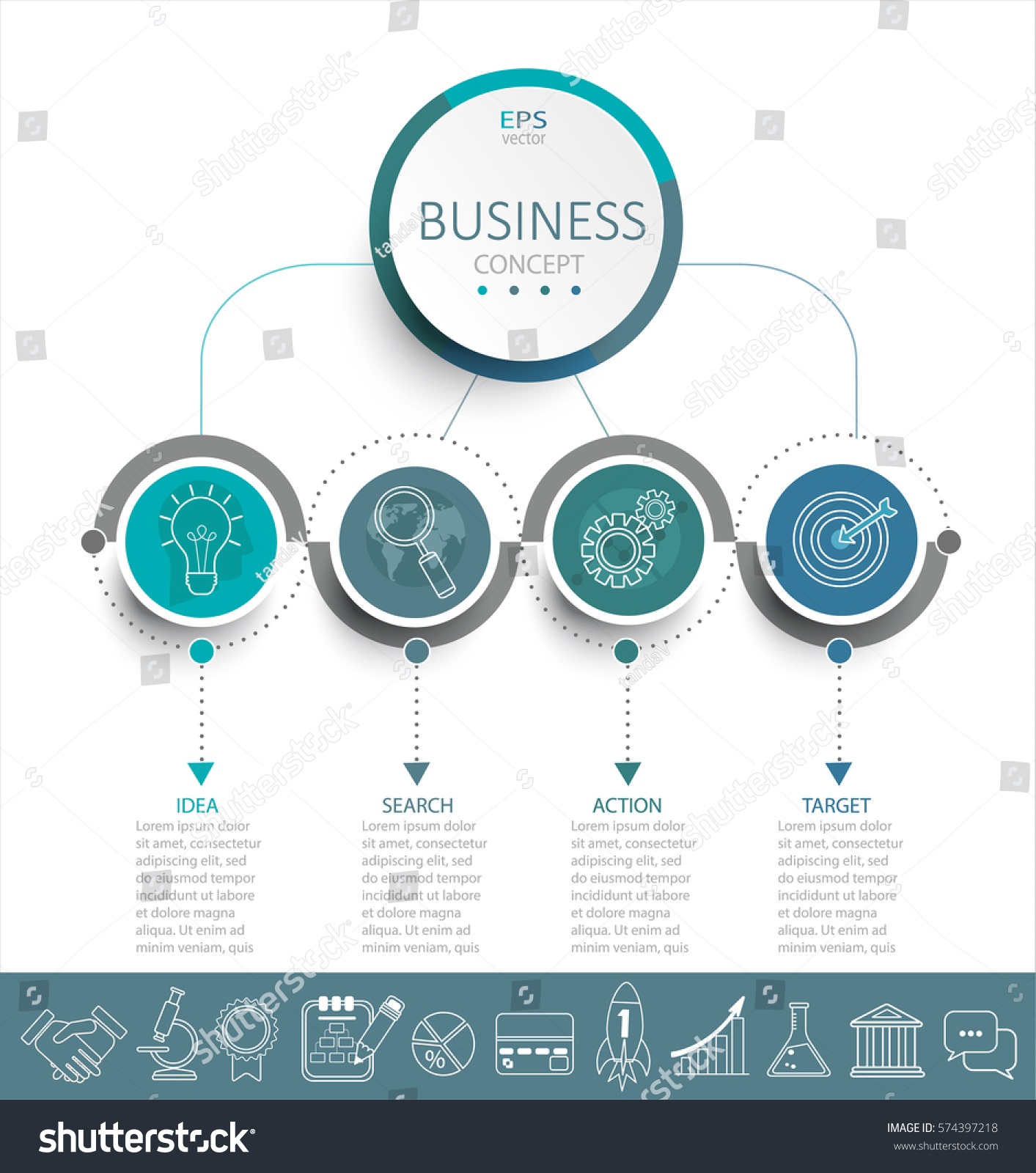 Vector Illustration Infographic Template 3d Circles Stock ...