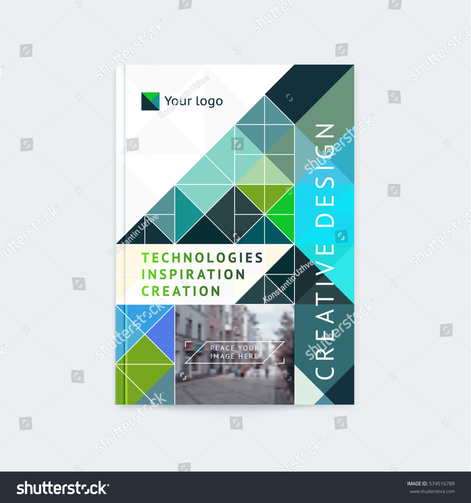 Brochure Template Layout Cover Design Annual Stock Vector 574516789 ...
