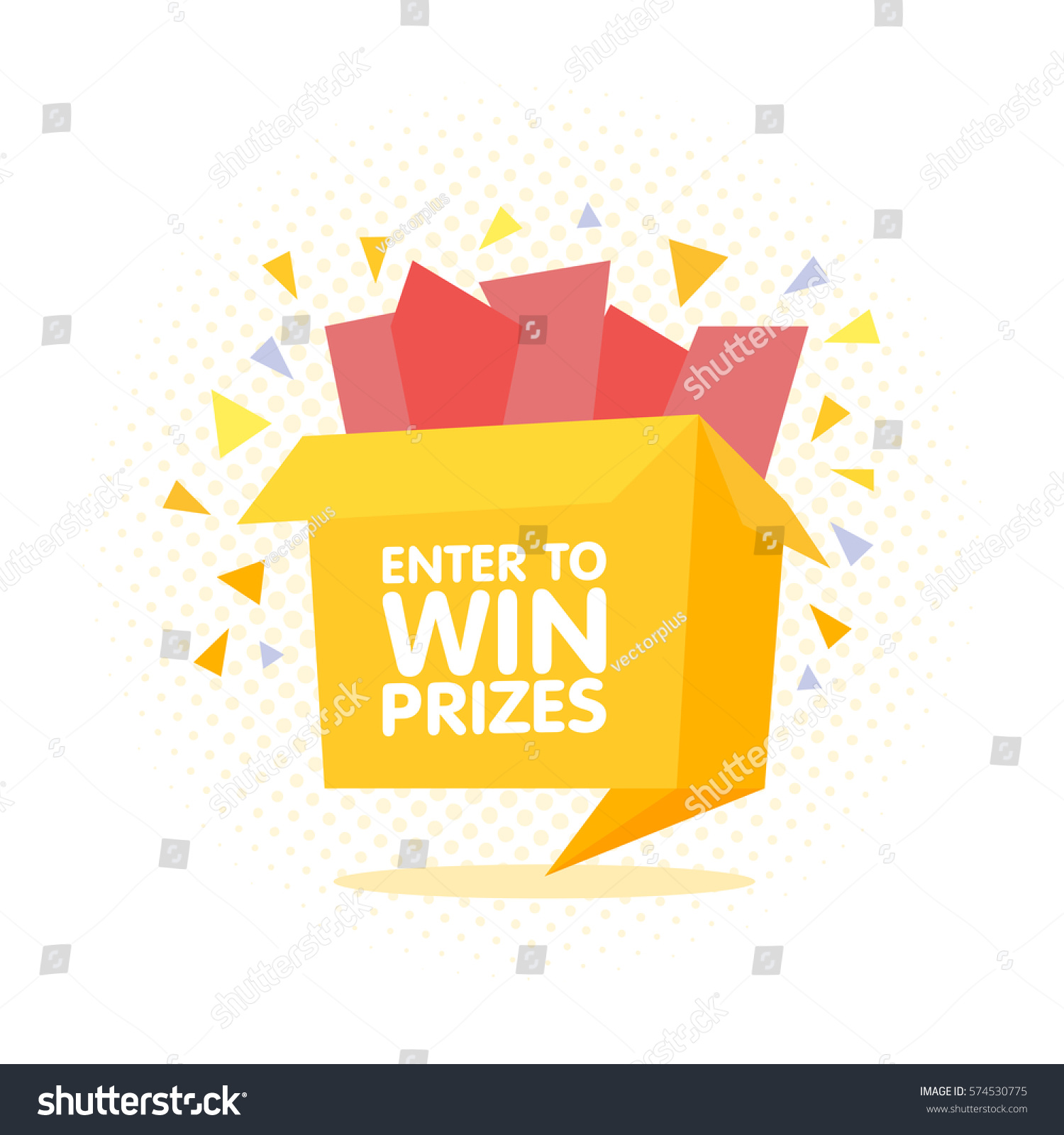 Enter win prizes gift box cartoon 574530775 enter to win prizes gift box cartoon origami style vector illustration negle Image collections