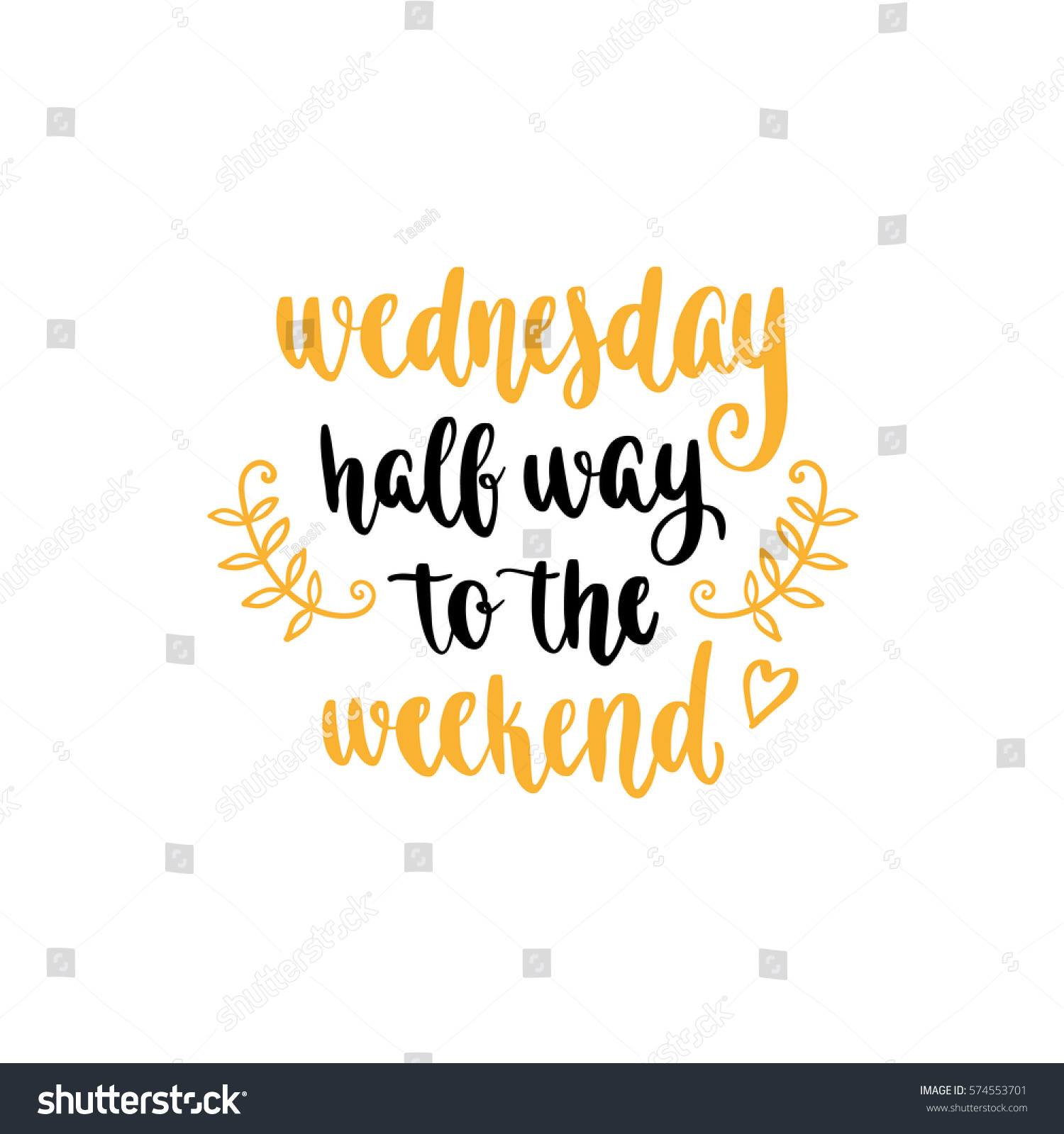Week Quotes Week Days Motivation Quotes Wednesday Vector Stock Vector