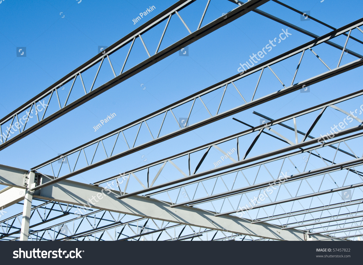 Structural Steel Logos : Structural steel structure new commercial building stock