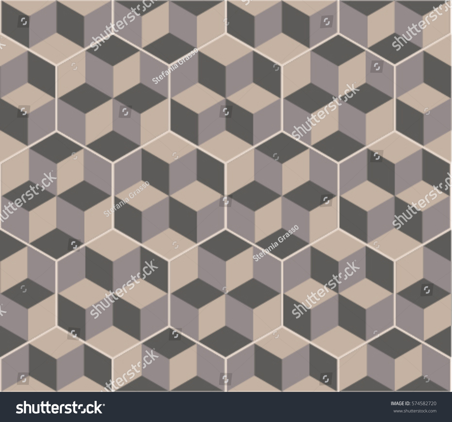 Hexagonal tiles optical illusion decor floor stock vector 2018 hexagonal tiles with optical illusion decor floor and wall texture vintage style pattern for ppazfo