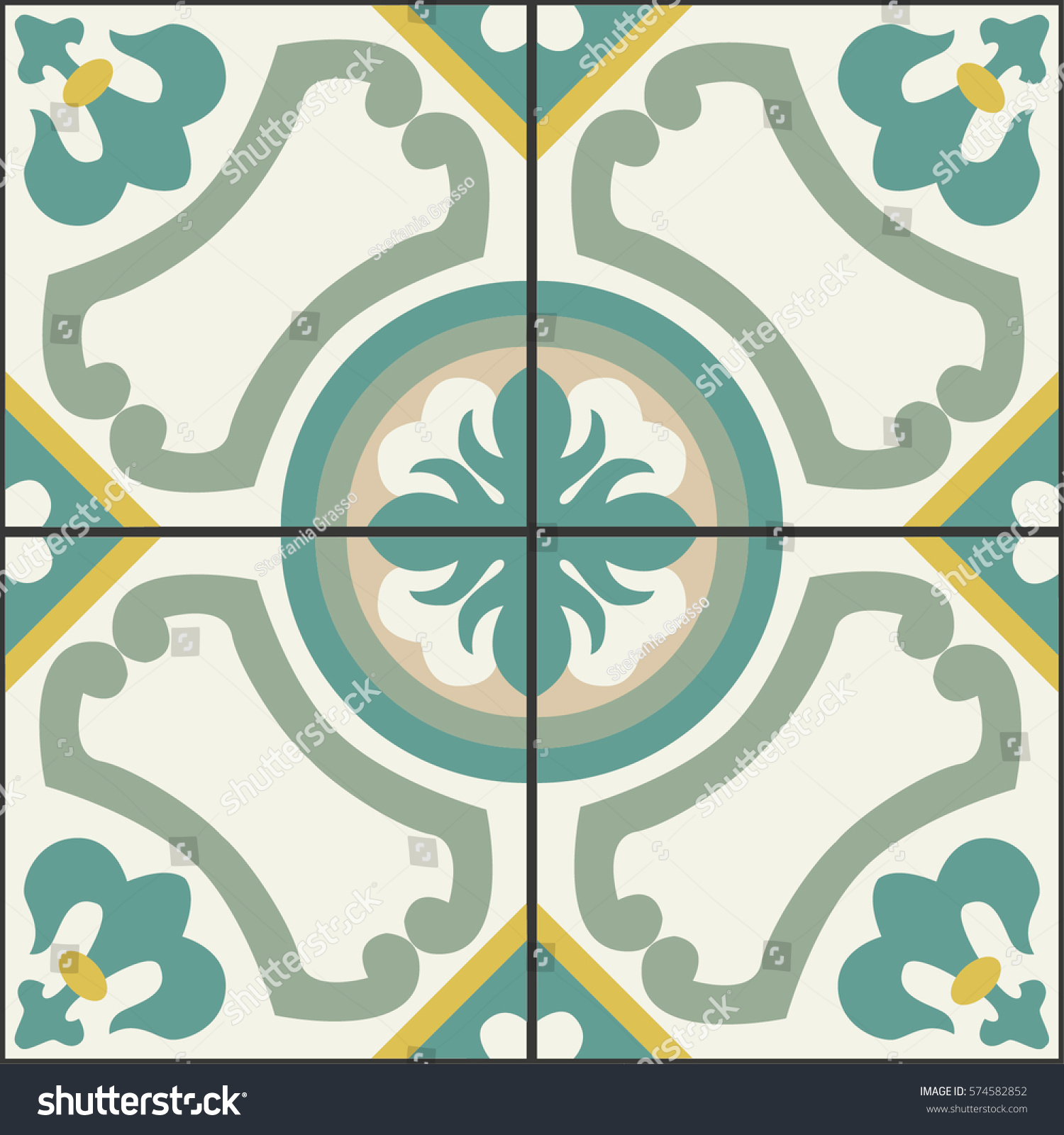 Geometrical pattern floor wall vintage decorative stock vector geometrical pattern for floor and wall vintage decorative style for modern floor and walls tiles dailygadgetfo Images