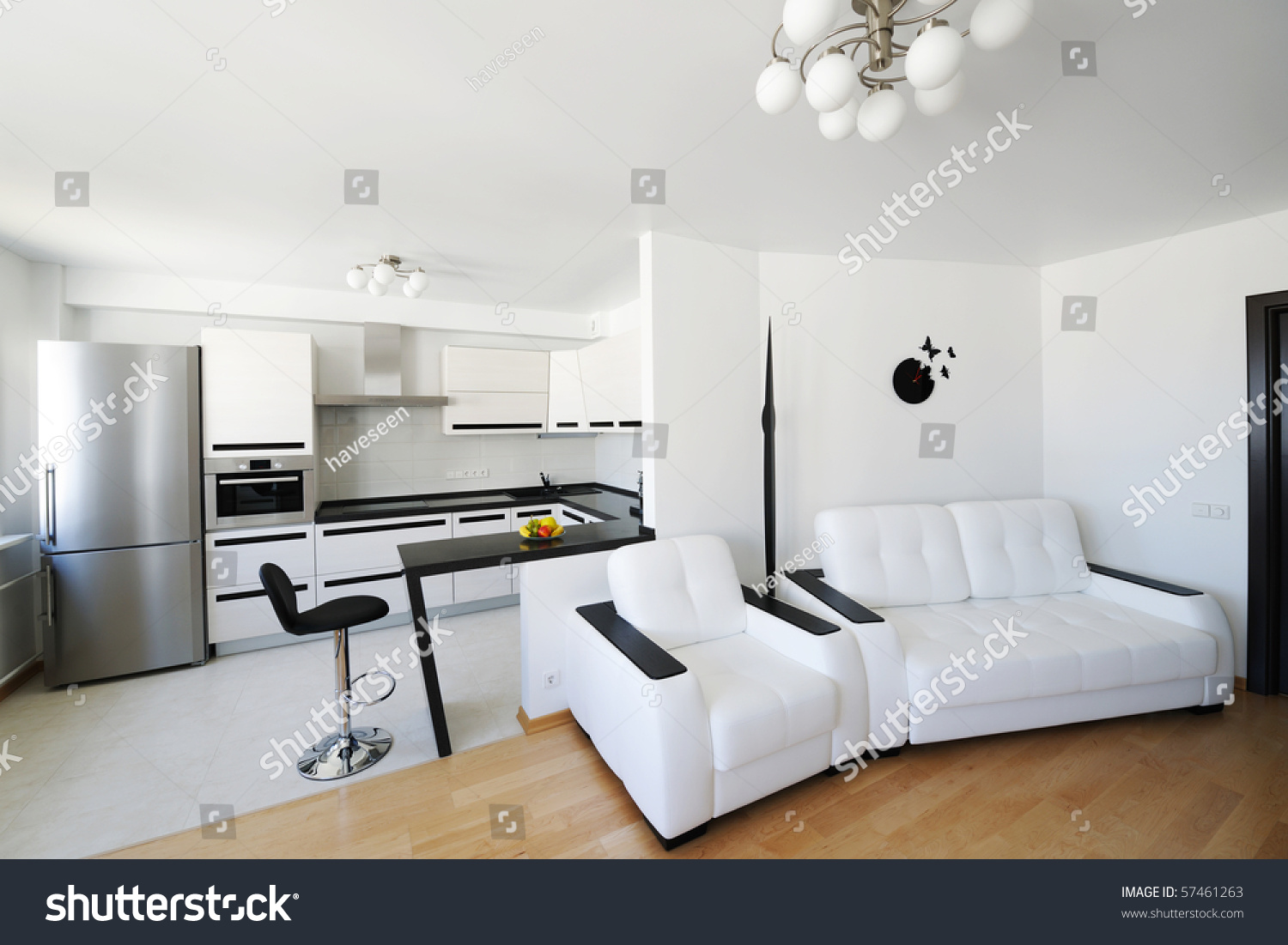 Modern Luxury Living Room Interior No Stock Photo (Royalty Free ...
