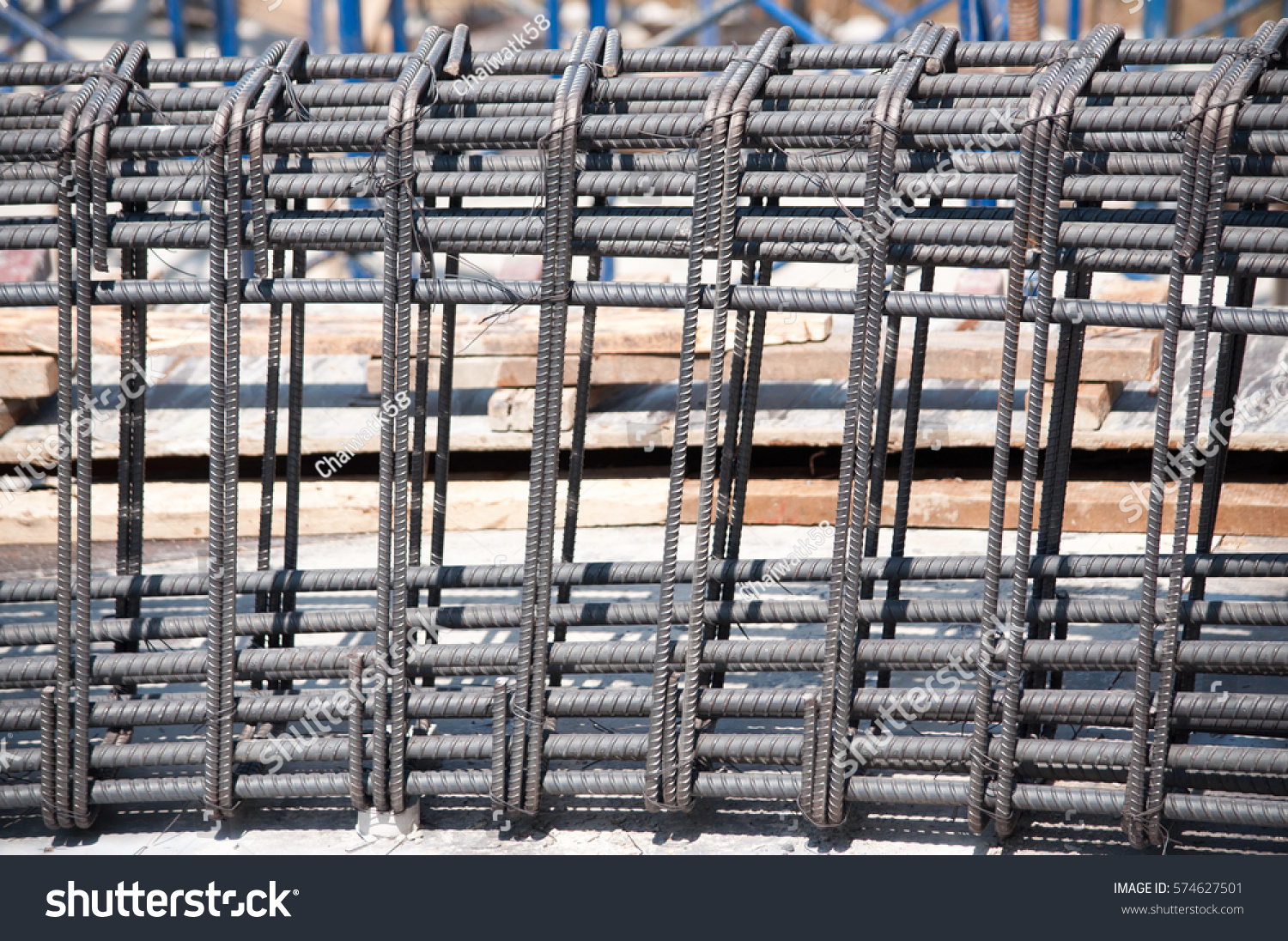 Using Steel Wire Securing Steel Bars Stock Photo (Royalty Free ...