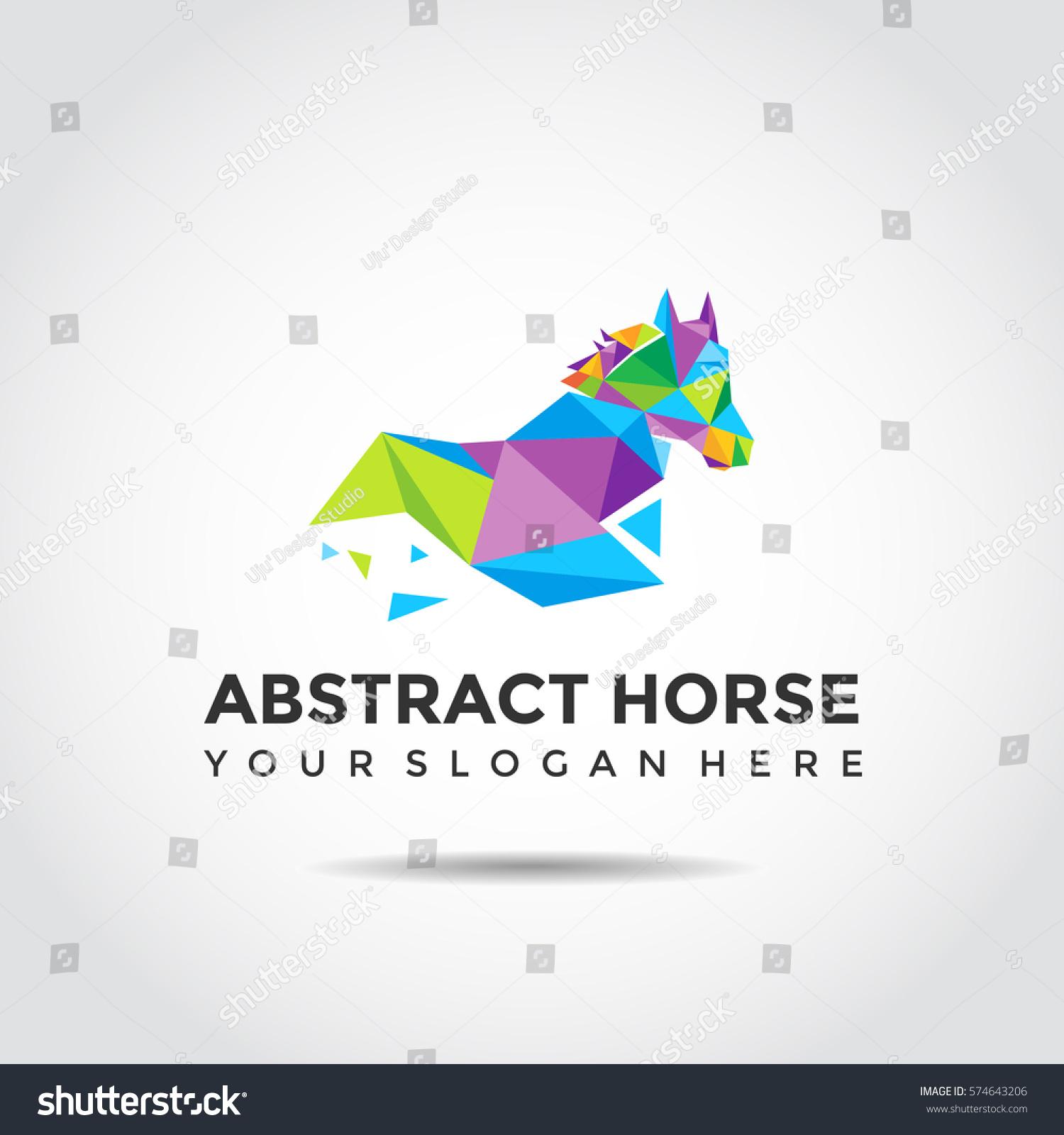 Vector De Stock Libre De Regalias Sobre Abstract Horse Logo Template Polygon Style574643206