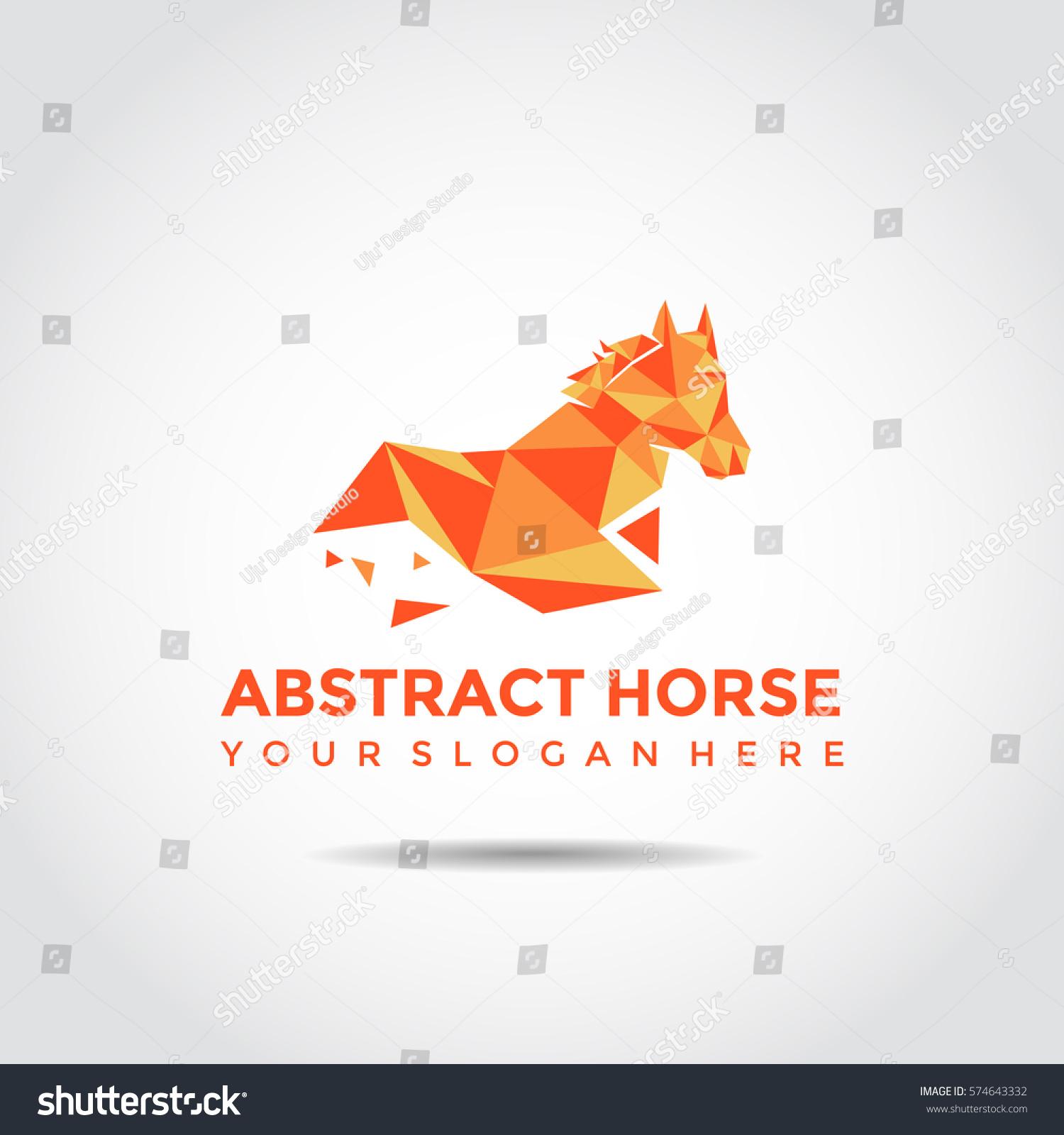 Abstract Horse Logo Template Polygon Style Stock Vector 574643332 ...
