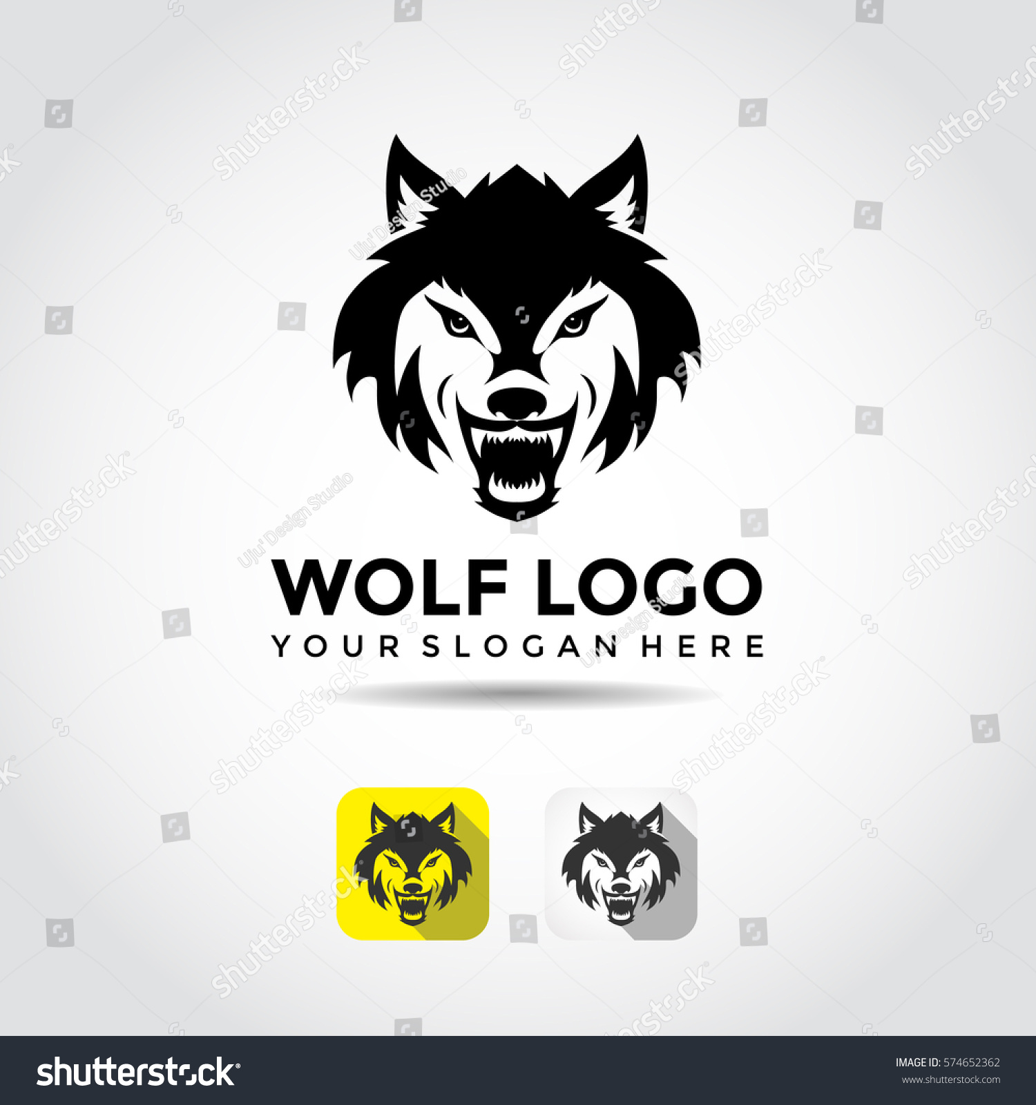 Wolf Logo Template Vector Illustrator Eps10 Stock Vector 574652362 ...