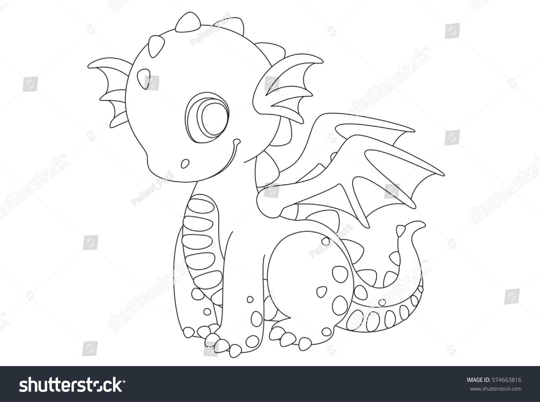 Cute Dragon Cartoon Drawing Color Stock Vector 574663816 - Shutterstock