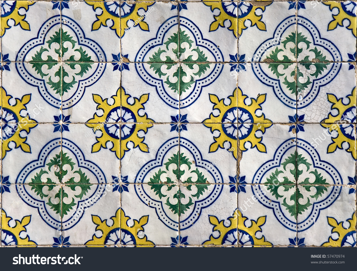 traditional colored decorative tiles covering many buildings in lisbon portugal - Decorative Tiles