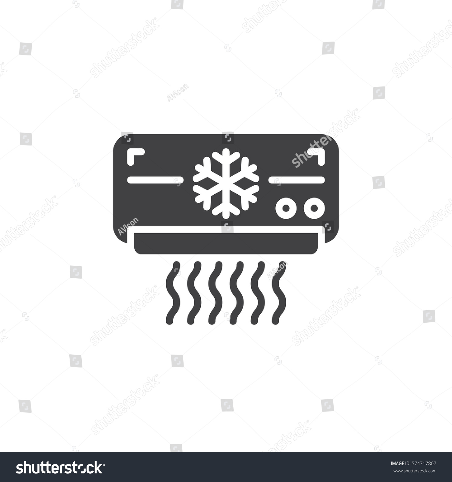 Air Conditioner Icon Vector Filled Flat Stock Vector (2018 ...