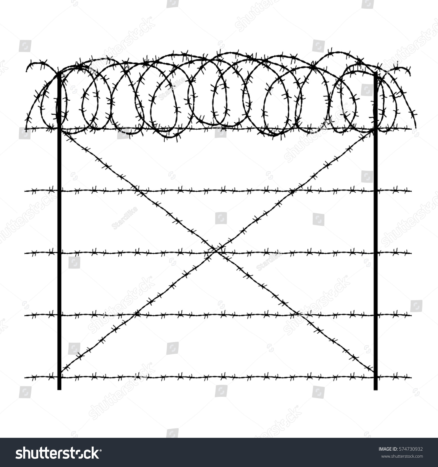 Barbed wire diagram
