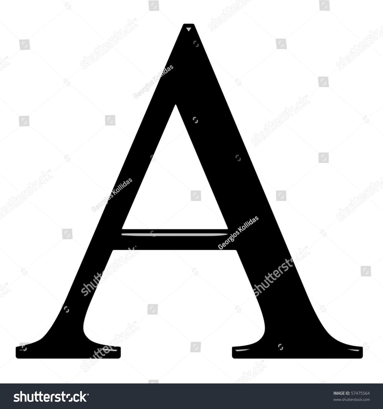 3 D Greek Letter Alpha Stock Illustration 57475564 Shutterstock