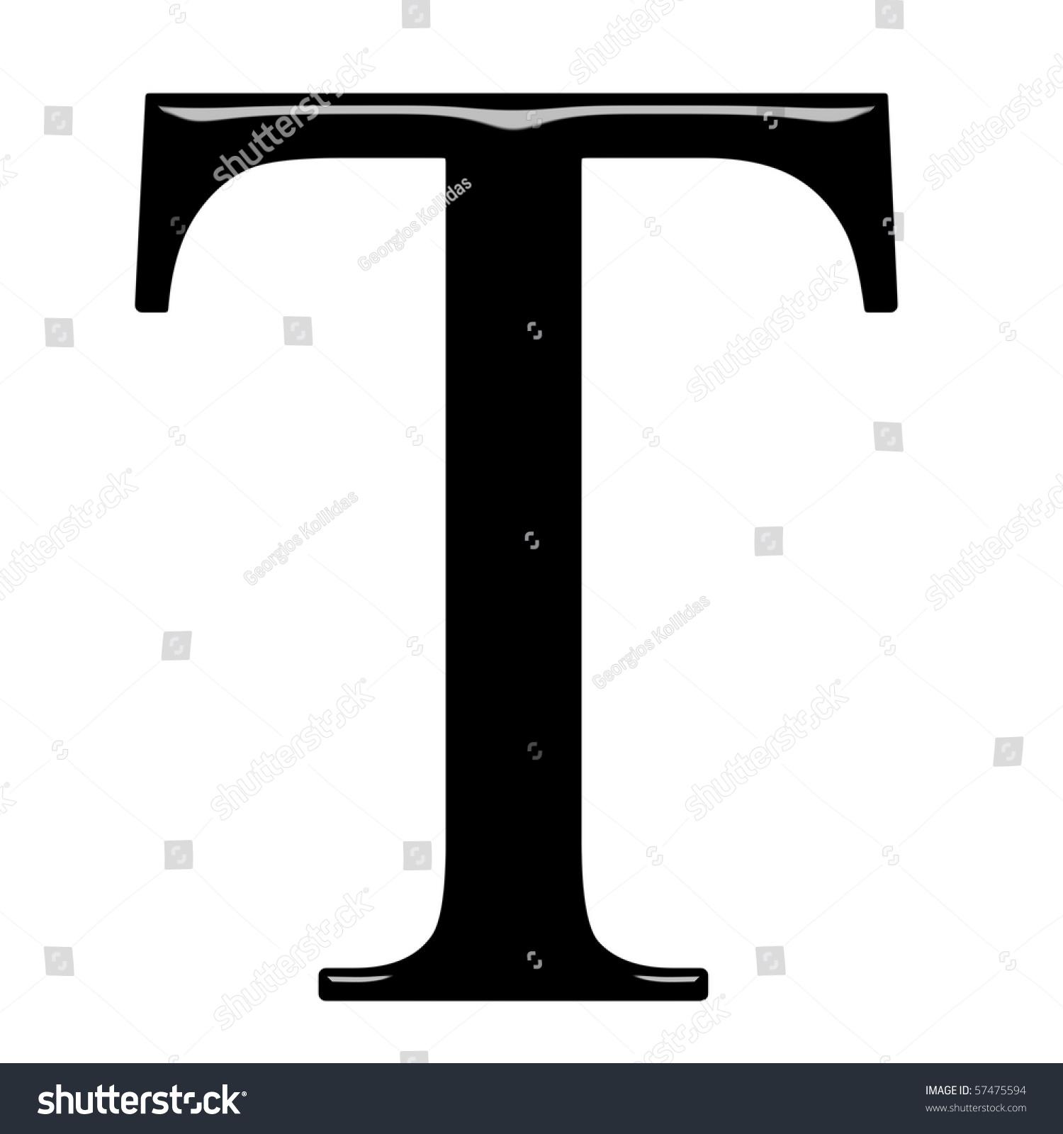 3d Greek letter Tau