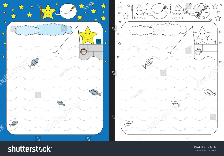 Wave Trace Worksheets For Preschoolers on Kindergarten Worksheets Turk