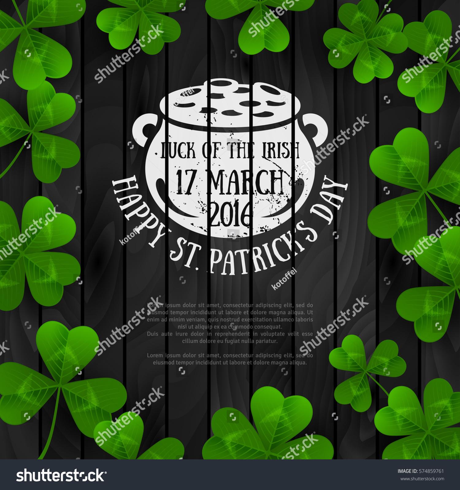irish menu templates - saint patricks day banner green four stock vector