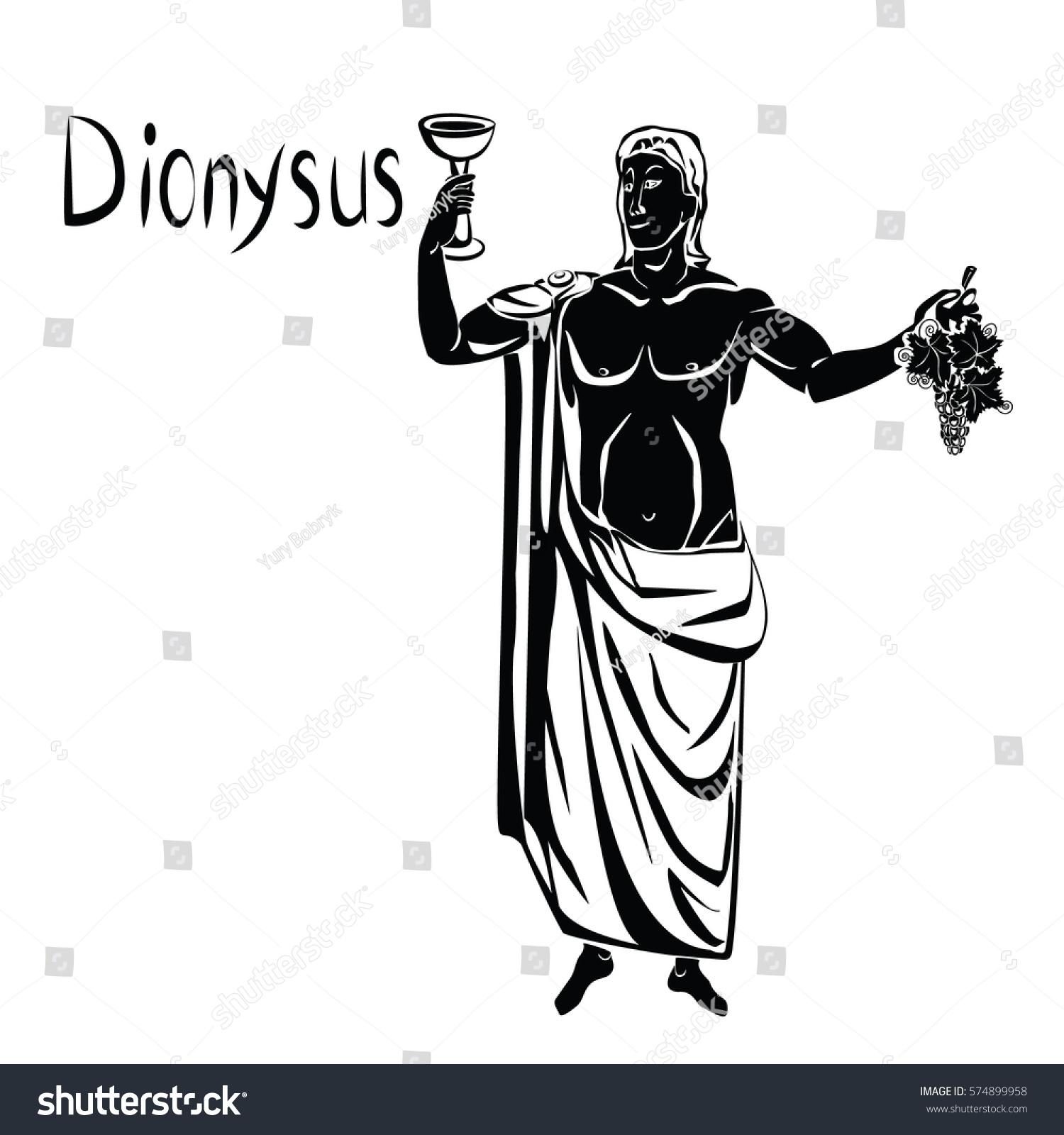 God Wine Greek Dionysus Roman Bacchus Stock Photo Photo Vector
