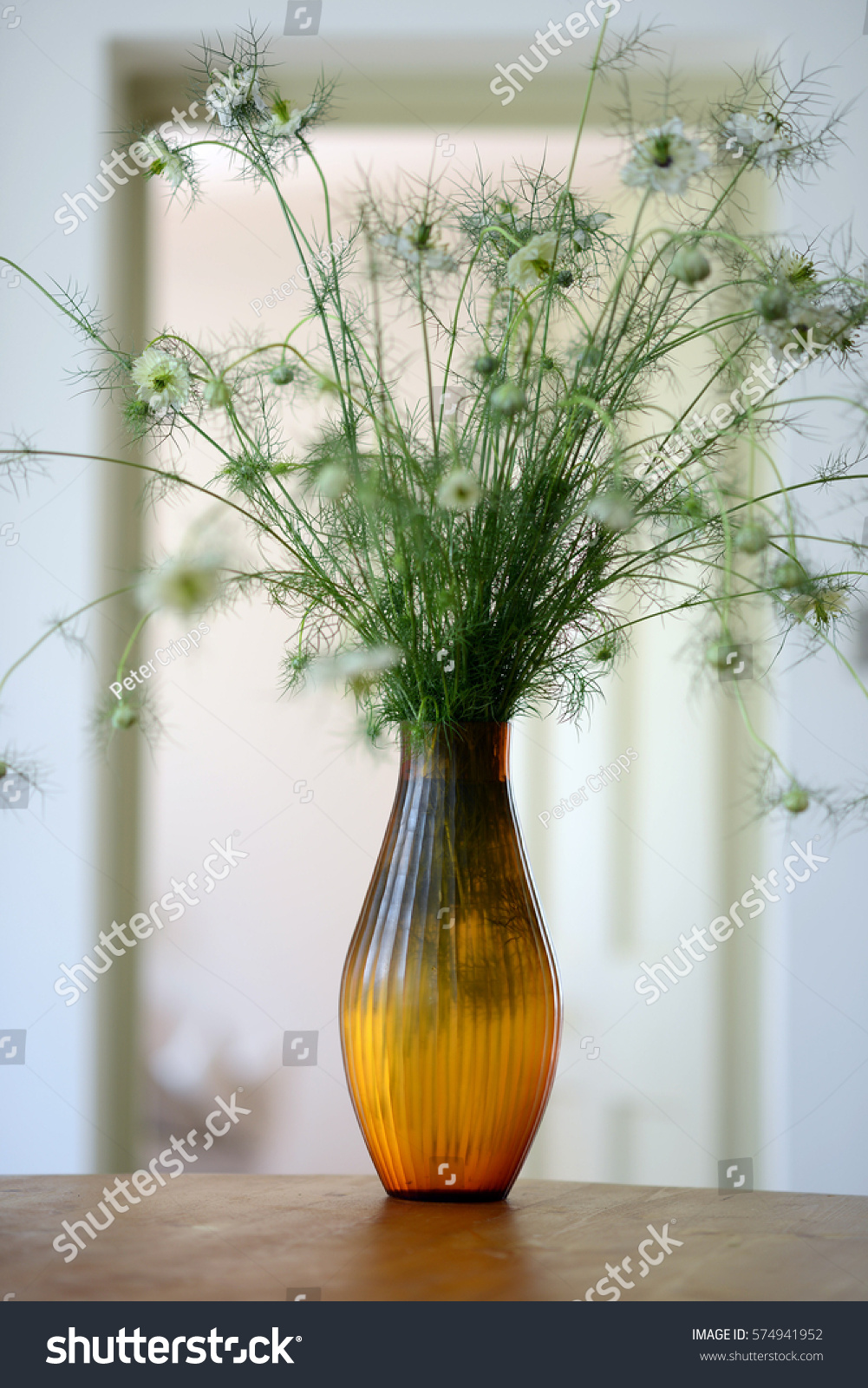 Flowers brown glass vase inside living stock photo 574941952 flowers in a brown glass vase inside a living room reviewsmspy