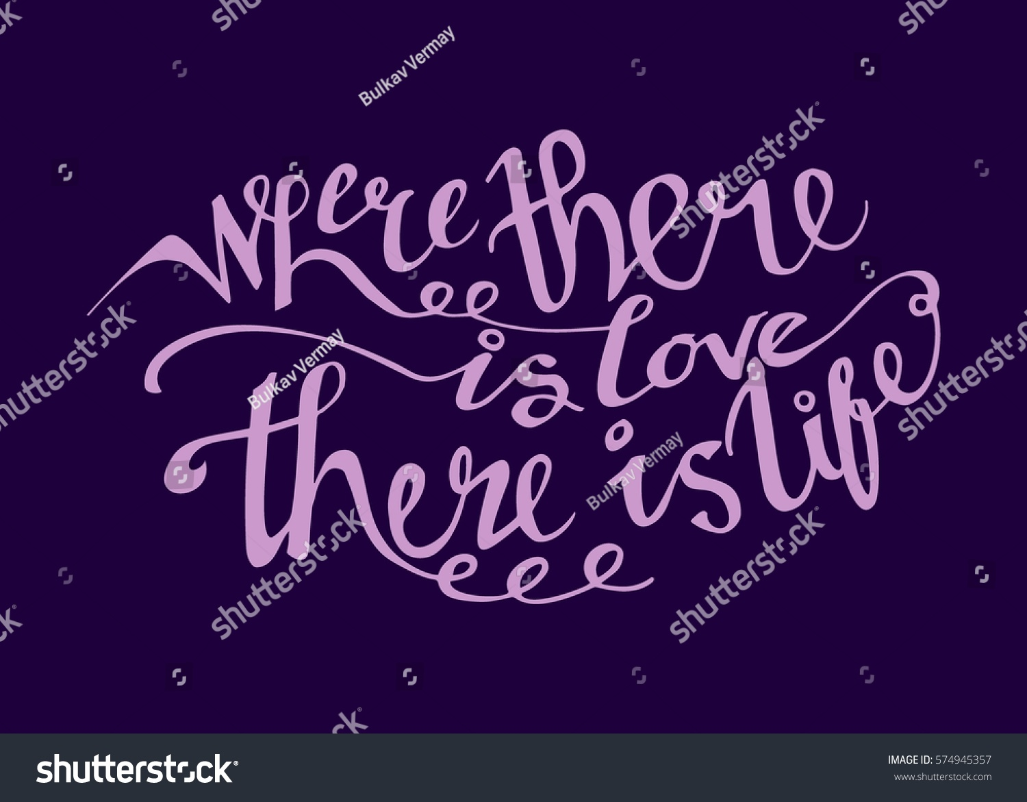 Where there love life hand stock vector