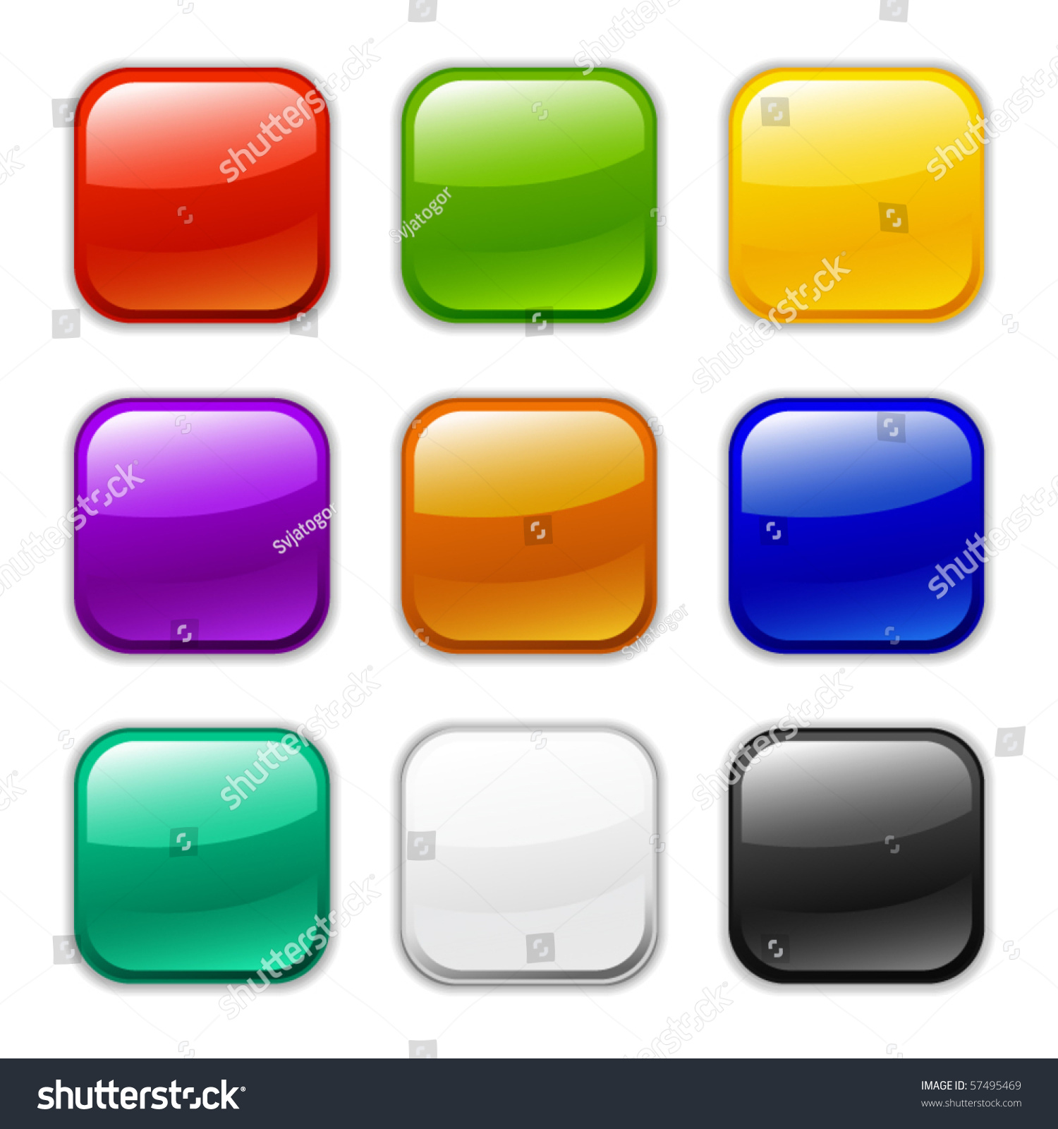 Vector Glossy Button Icon Samples Stock Vector 57495469 - Shutterstock