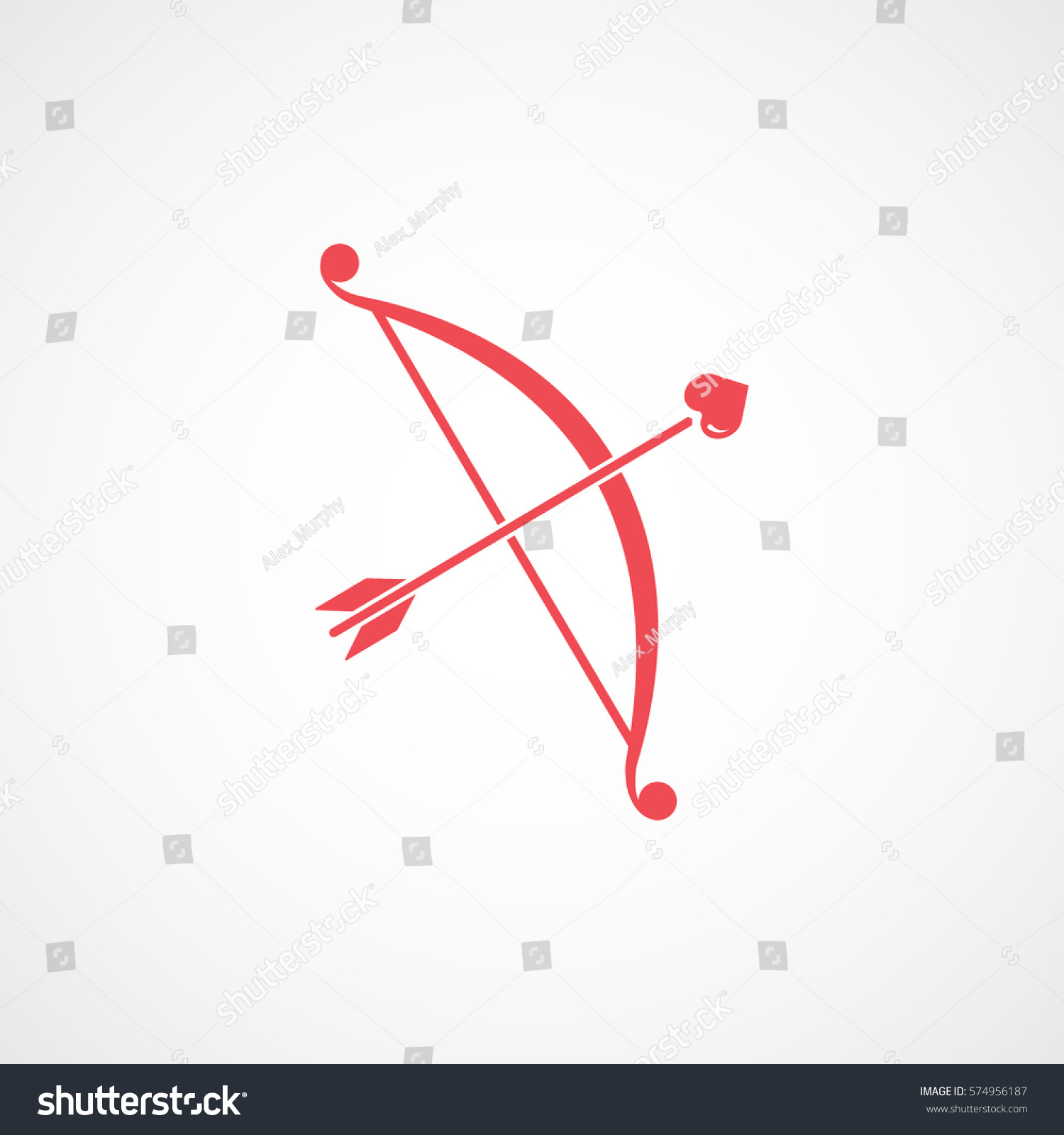 Valentines Day Cupid Bow Arrow Heart Stock Vector ...