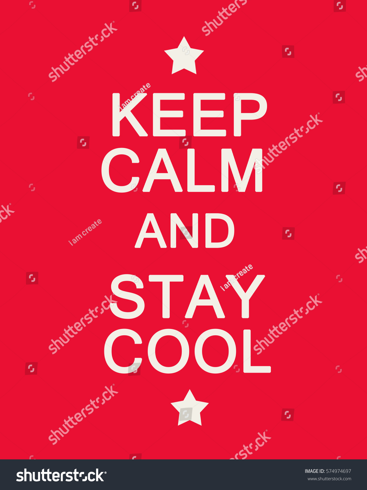 keep calm stay cool on red stock illustration 574974697 shutterstock
