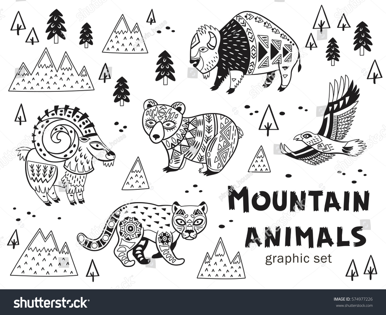 tribal animal coloring pages - photo#26