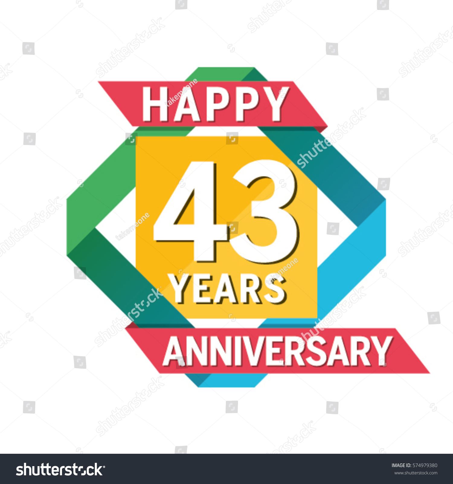 Anniversary banner celebration years stock vector