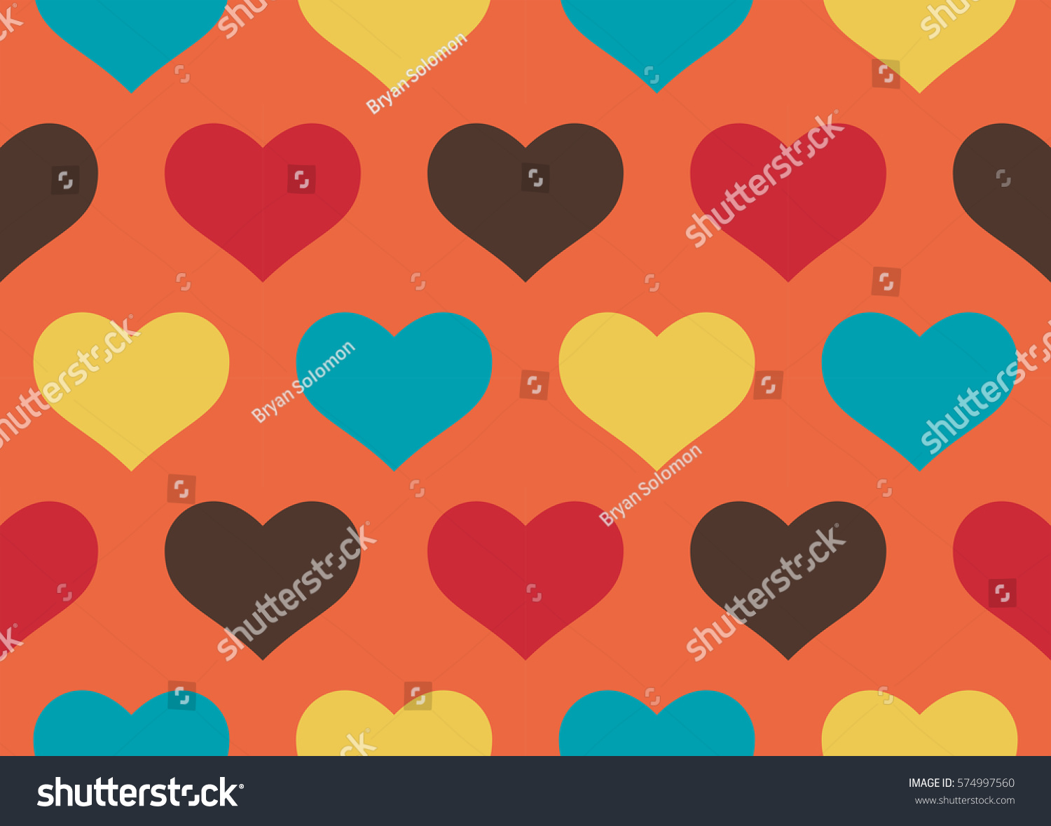 candy colors hearts design seamless pattern stock illustration