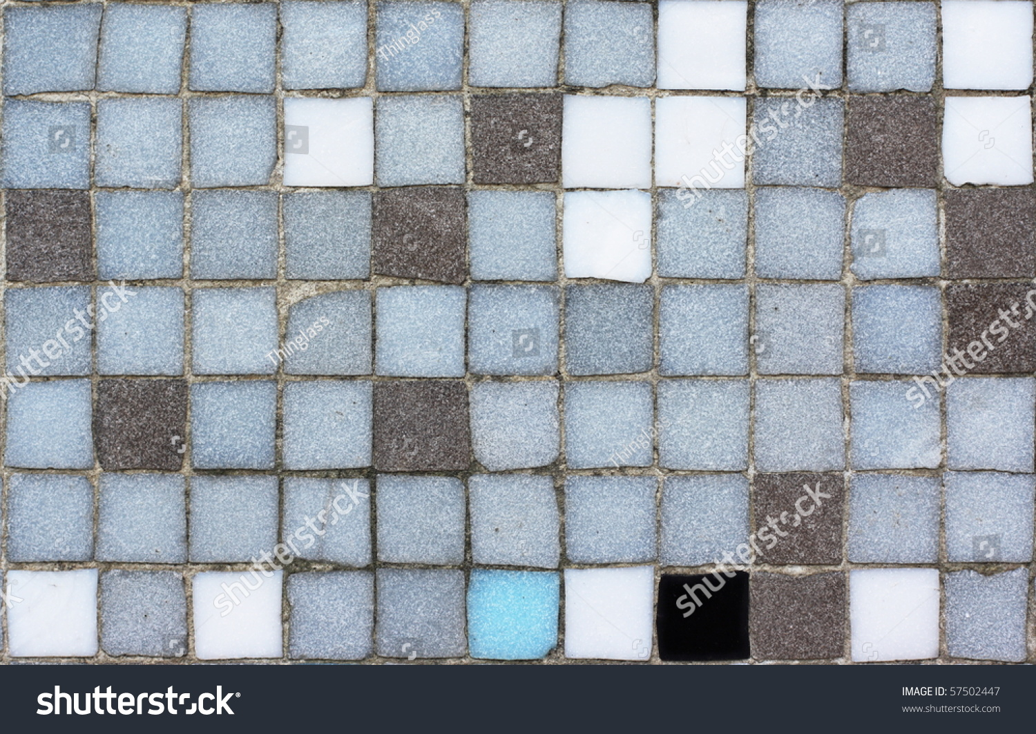 Close Mosaic Tiles On Wall Typical Stock Photo (Royalty Free ...