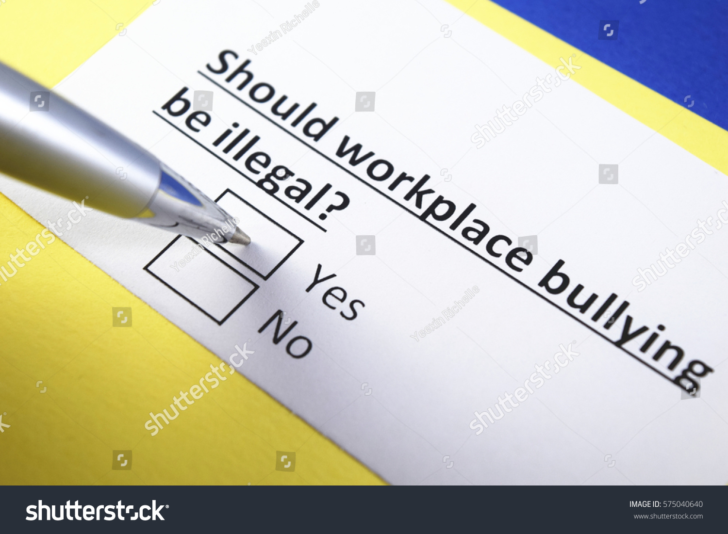 Should work place bullying be illegal? yes or no
