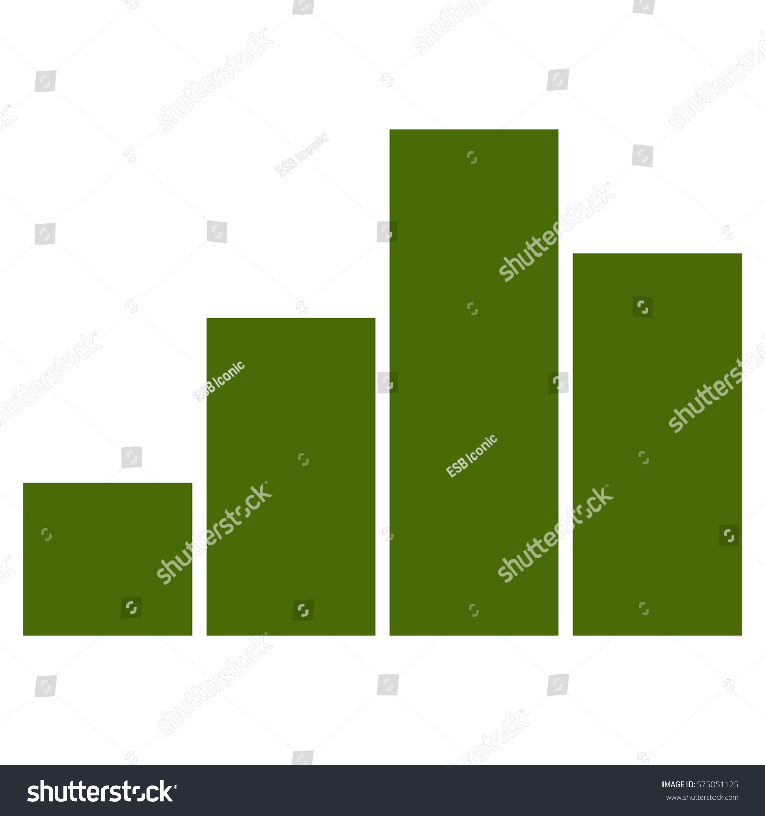 stock vector vector illustration of bar chart in green icon 575051125 swot icon wiring diagrams wiring diagrams flat design letters for th8320r1003 wiring diagrams at mifinder.co