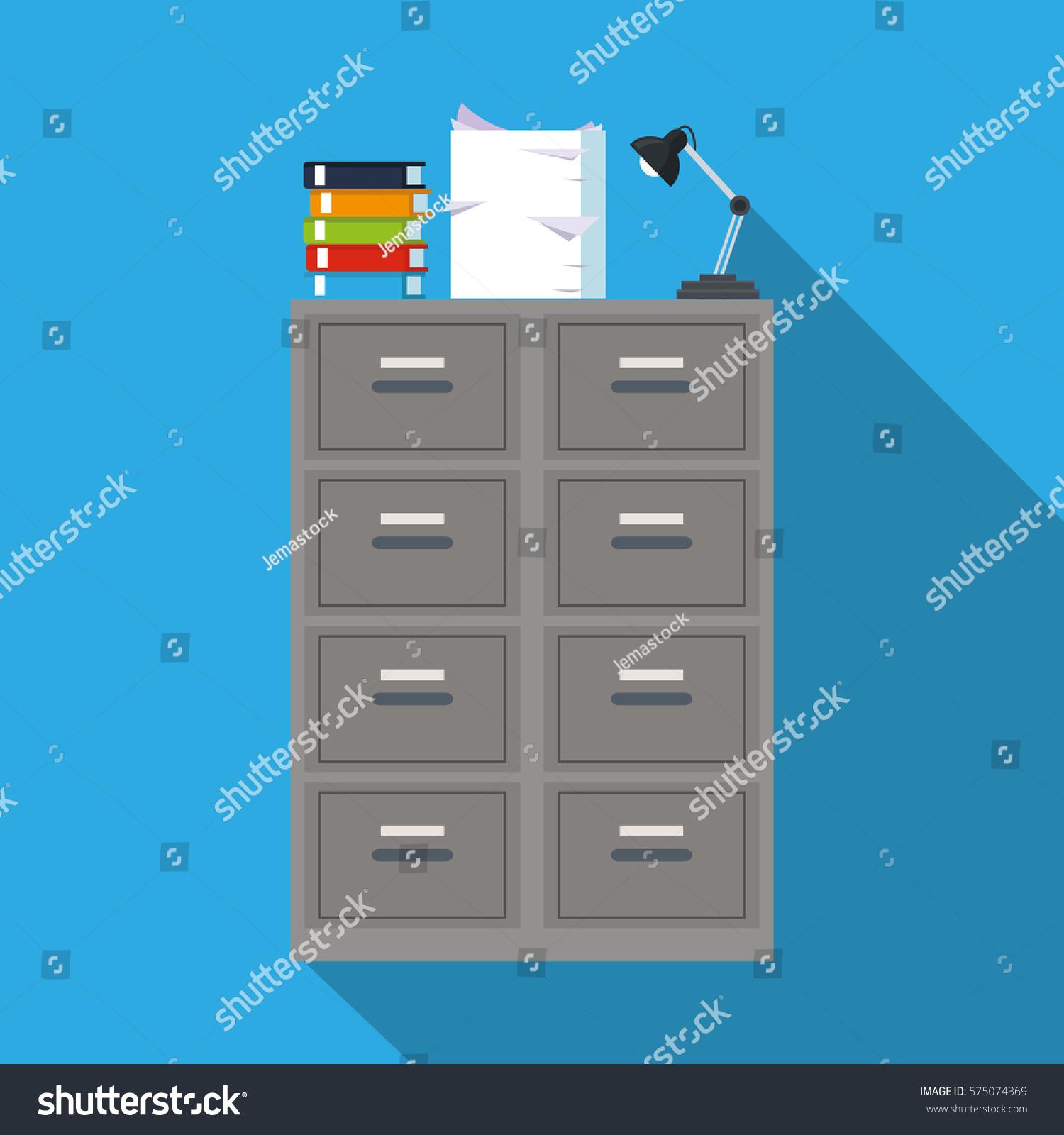 Cabinet File Archive Books Document Lapm Office Blue Background