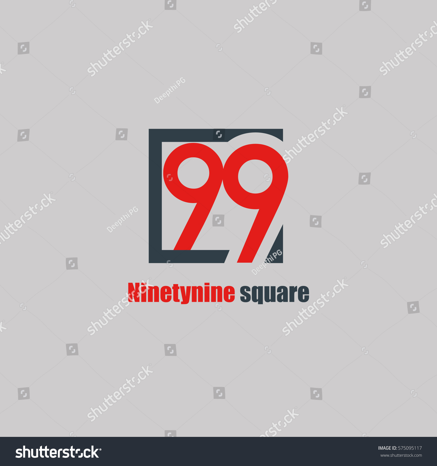 99 Number Logo Design Vector Element Stock Vector
