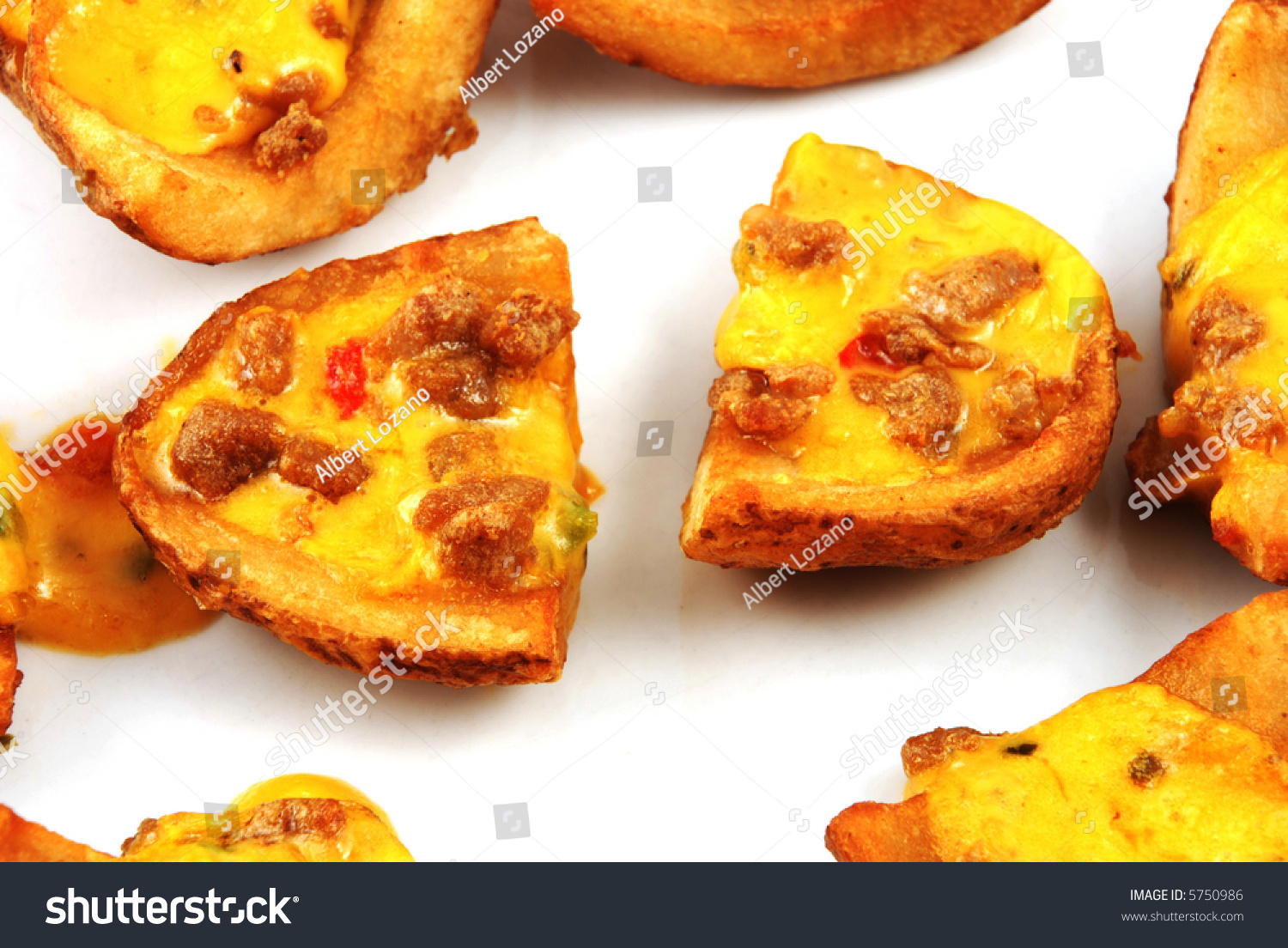 Stock Pictures Potato Skins Loaded Chesse Stock Photo 5750986 ...