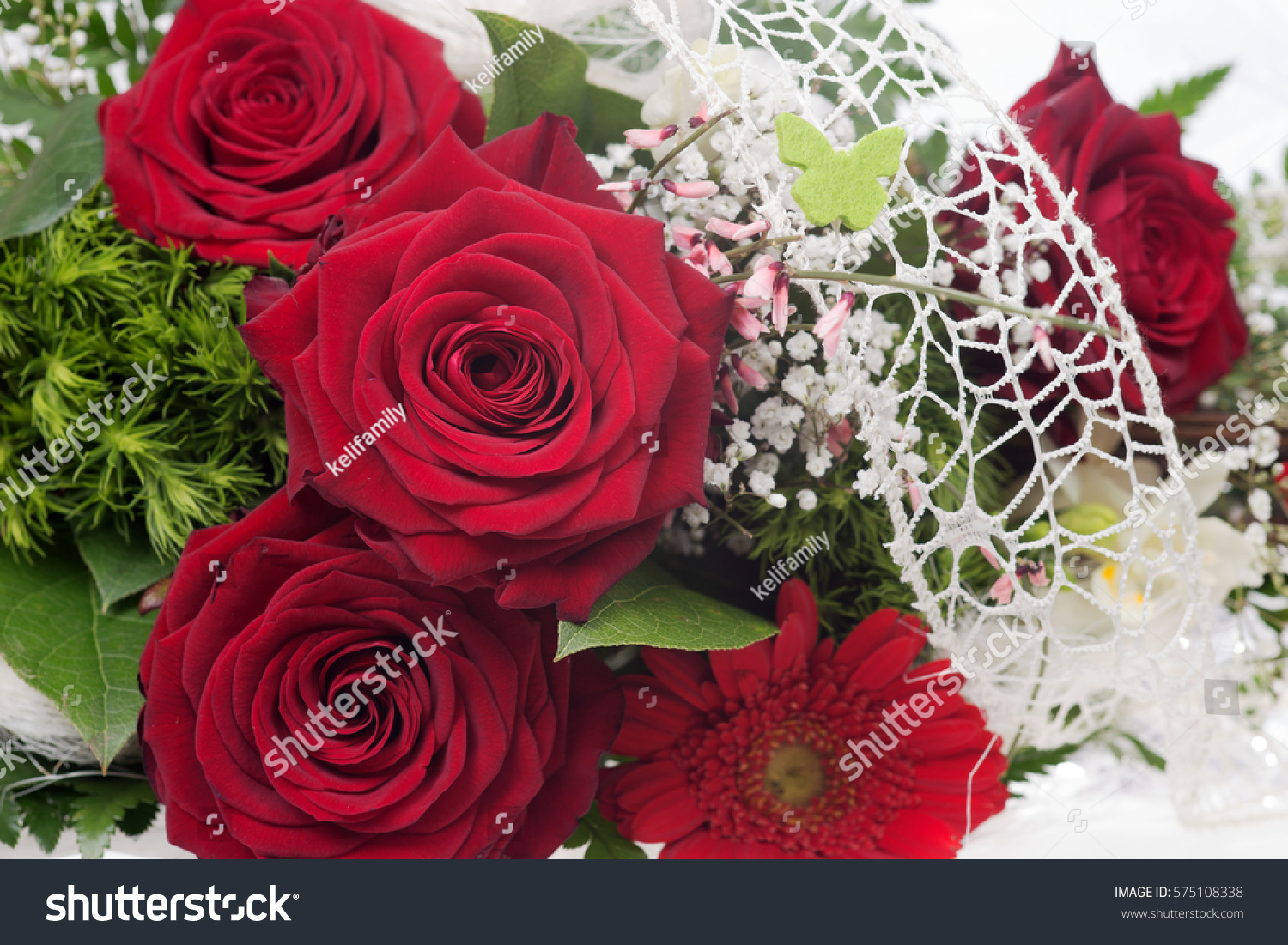 Very Beautiful Bouquet Red Roses Stock Photo Edit Now 575108338