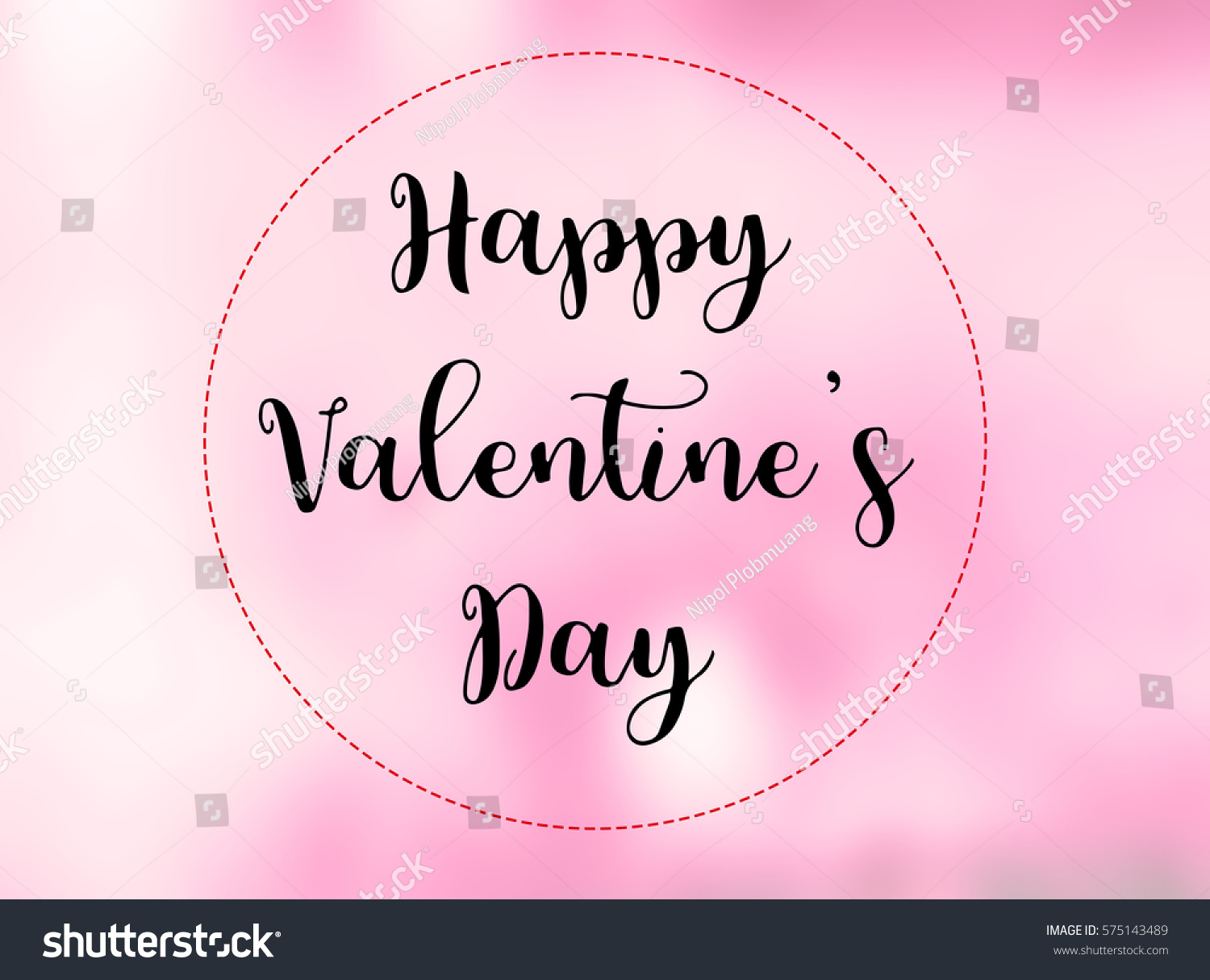 Happy Valentines Day Words On Blurred Stock Illustration 575143489