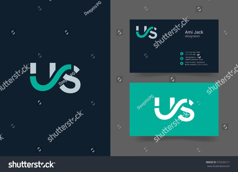 Vetor stock de u s letter logo design vector livre de direitos u s letter logo design vector element with business card template reheart Gallery