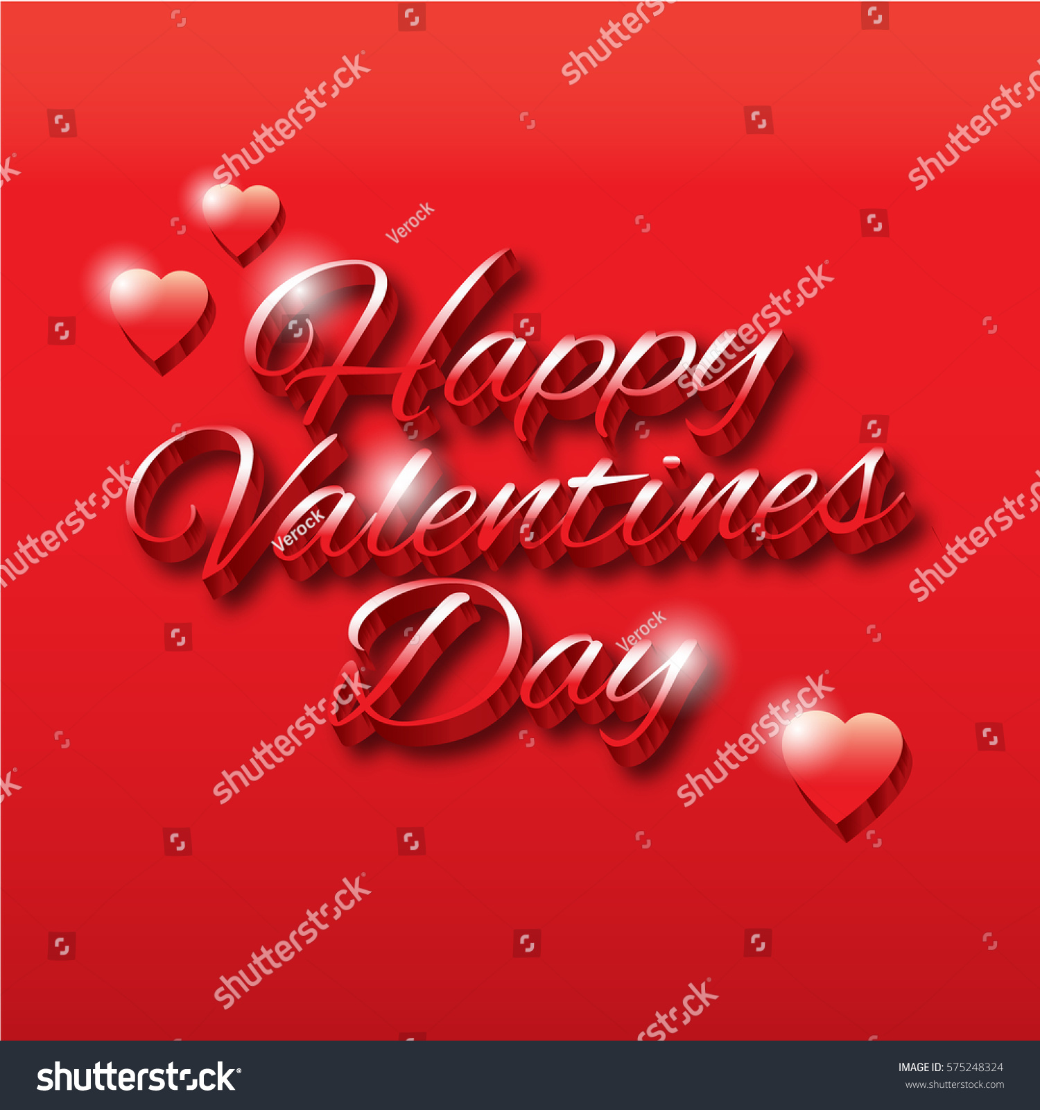 Happy Valentines Day Greeting Card Template Stock Vector 2018