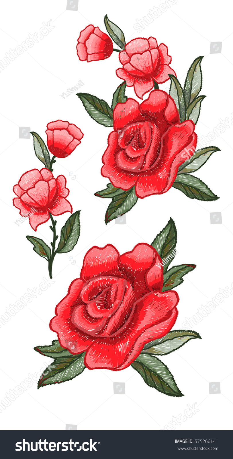 Beautiful flowers embroidery rose embroidery vector stock photo beautiful flowers embroidery rose embroidery vector for textile design izmirmasajfo
