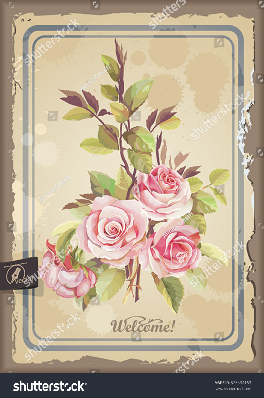 Vintage Watercolor Frame Blooming Pink English Stock Vector HD ... on rosary garden designs, simple garden designs, small urban garden designs, small formal garden designs, no maintenance garden designs, terrace garden designs, herb garden designs, fairy garden designs, minecraft garden designs, sun garden designs, school garden designs, front garden designs, unique garden designs, small garden fence designs, country garden designs, bamboo garden designs, amazing garden designs, outdoor garden designs, back garden designs, witch garden designs,