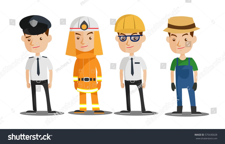 Man Jobs Cartoon Vector Stock Vector Royalty Free 575430028