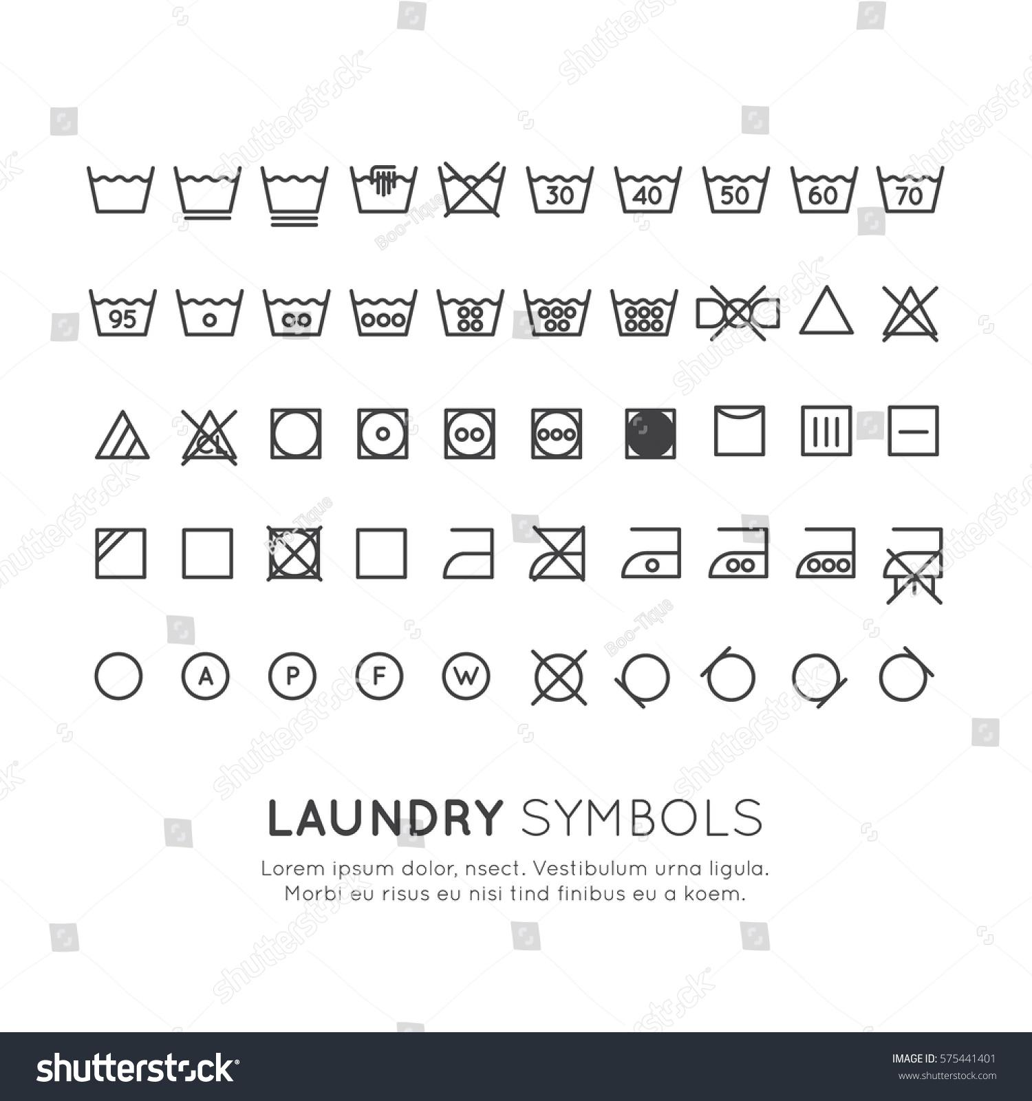 Garment care symbols set symbols on stock vector 575441401 garment care symbols set the symbols on the labels of clothes washing wringing buycottarizona