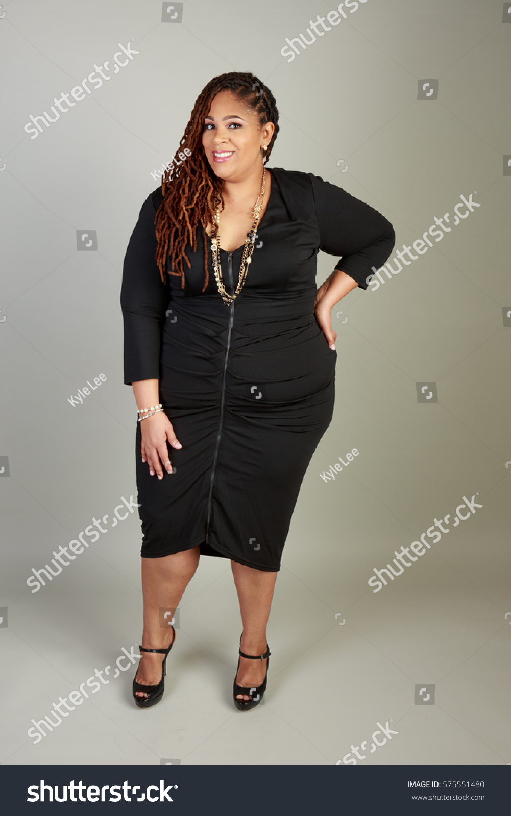 royalty-free plus size african american bbw woman in… #575551480